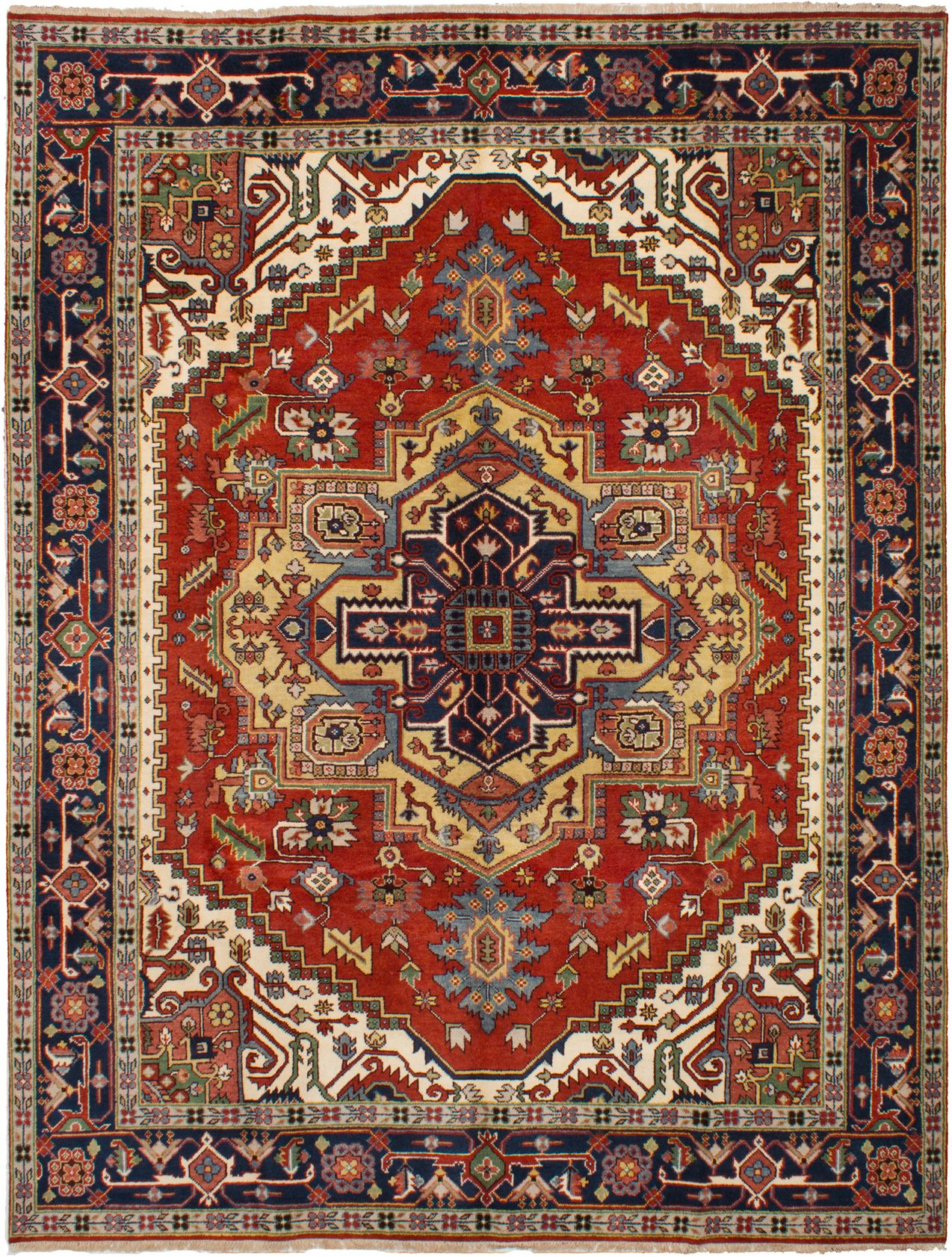 Hand-knotted Serapi Heritage Red Wool Rug 9'0in x 11'10in  at RugsBySize.com
