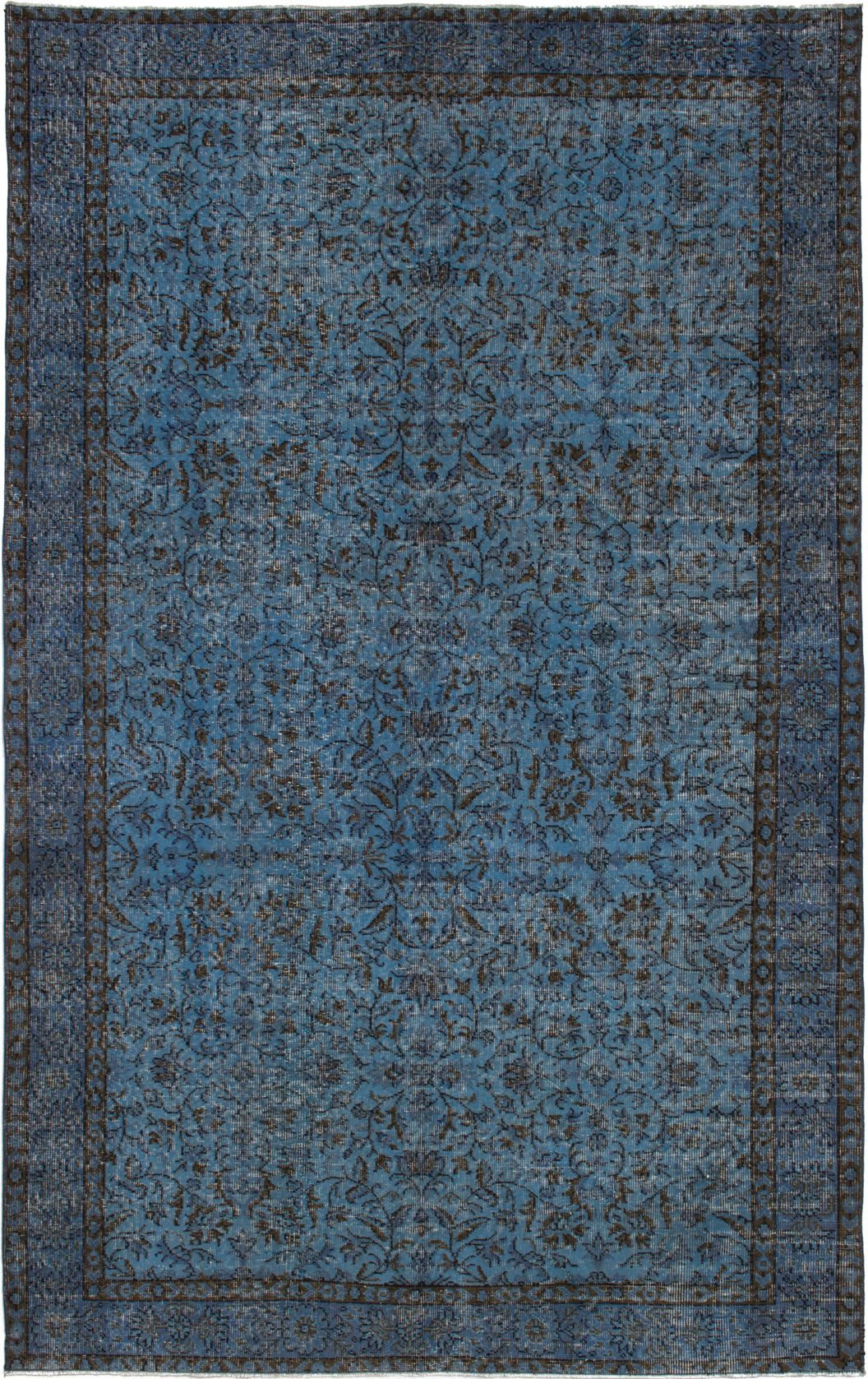 """Hand-knotted Color Transition Blue Wool Rug 5'6"""" x 8'11"""" Size: 5'6"""" x 8'11"""""""
