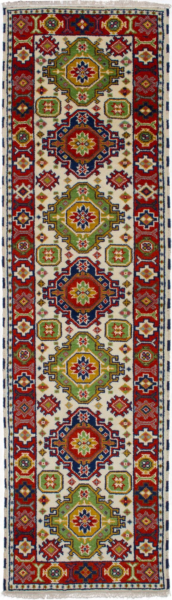 "Hand-knotted Royal Kazak Beige Wool Rug 2'9"" x 9'8"" Size: 2'9"" x 9'8"""