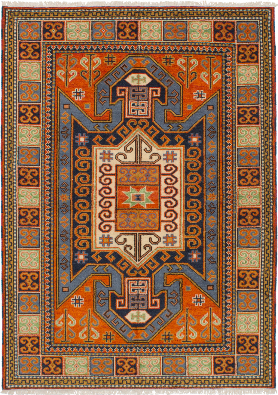 "Hand-knotted Royal Kazak Orange Wool Rug 5'9"" x 7'11"" Size: 5'9"" x 7'11"""