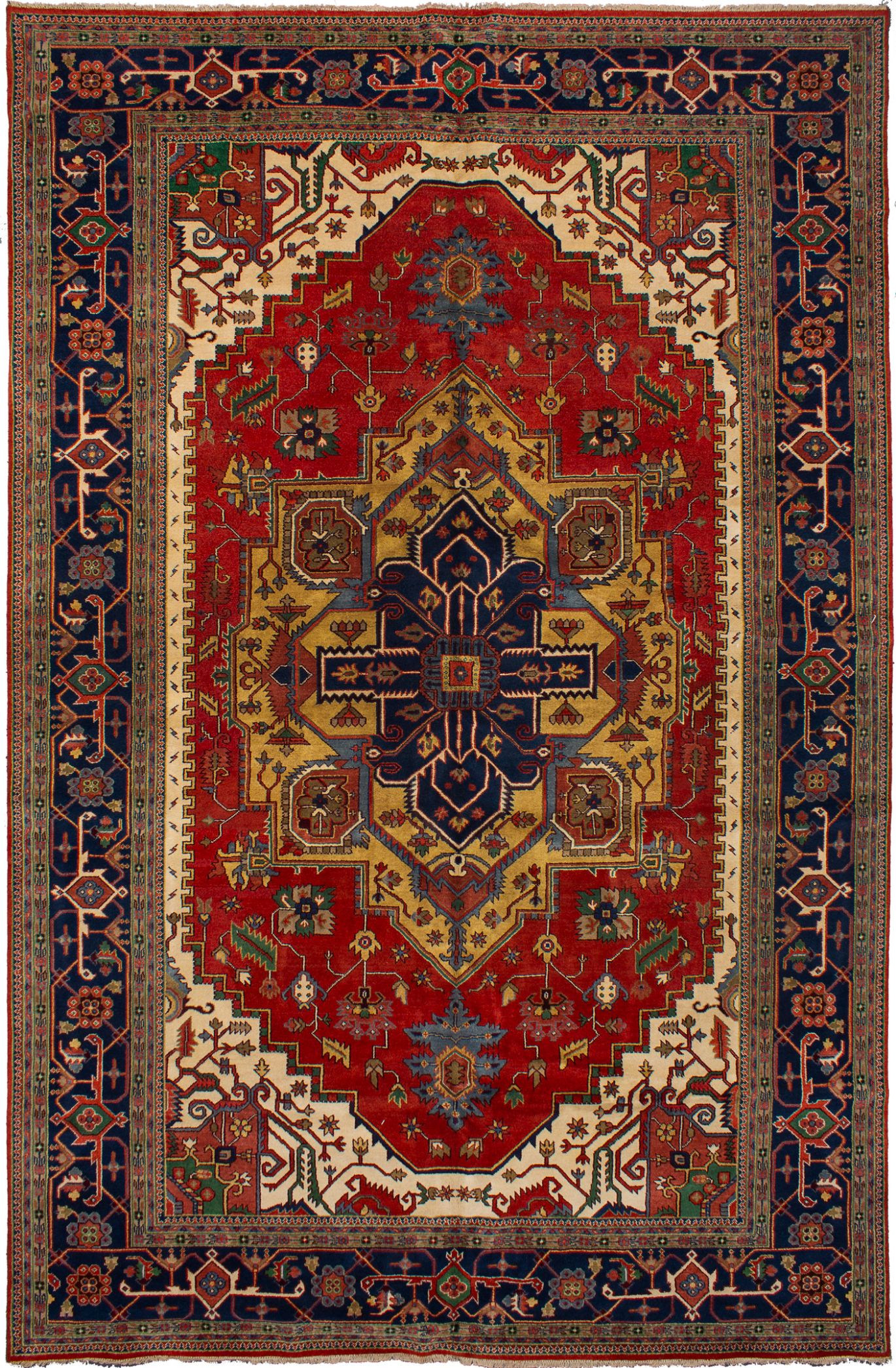"""Hand-knotted Serapi Heritage Red Wool Rug 12'0"""" x 18'4"""" Size: 12'0"""" x 18'4"""""""