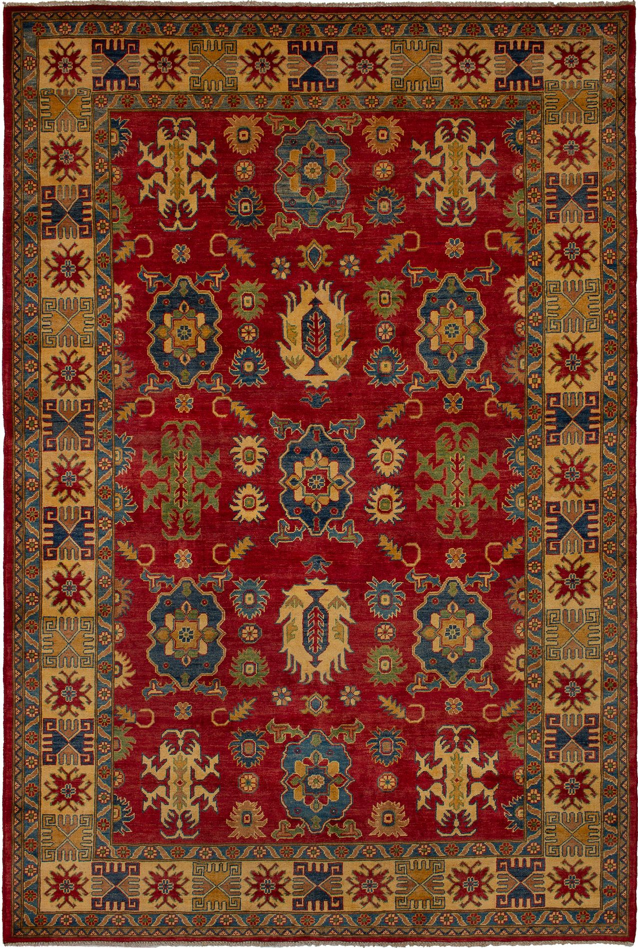 "Hand-knotted Finest Gazni Red Wool Rug 6'6"" x 9'9"" Size: 6'6"" x 9'9"""
