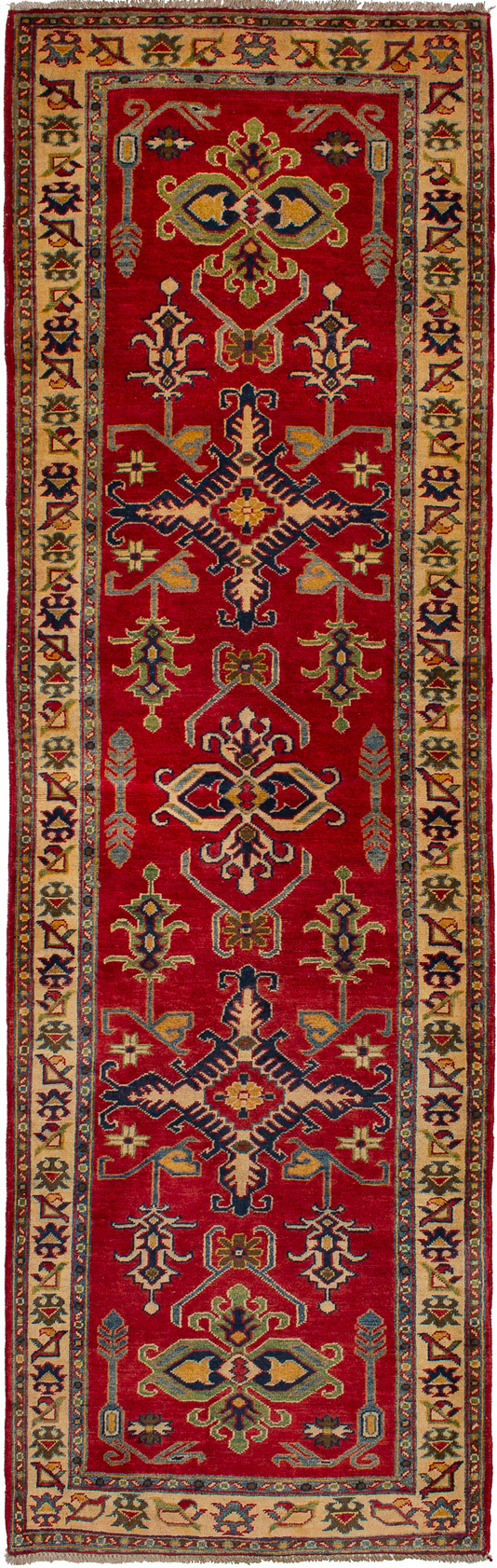 "Hand-knotted Finest Gazni Red Wool Rug 2'10"" x 9'3""  Size: 2'10"" x 9'3"""