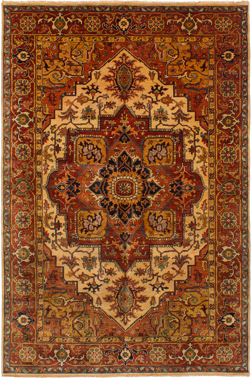 """Hand-knotted Jules-Sultane Dark Copper Wool Rug 6'0"""" x 9'0"""" Size: 6'0"""" x 9'0"""""""