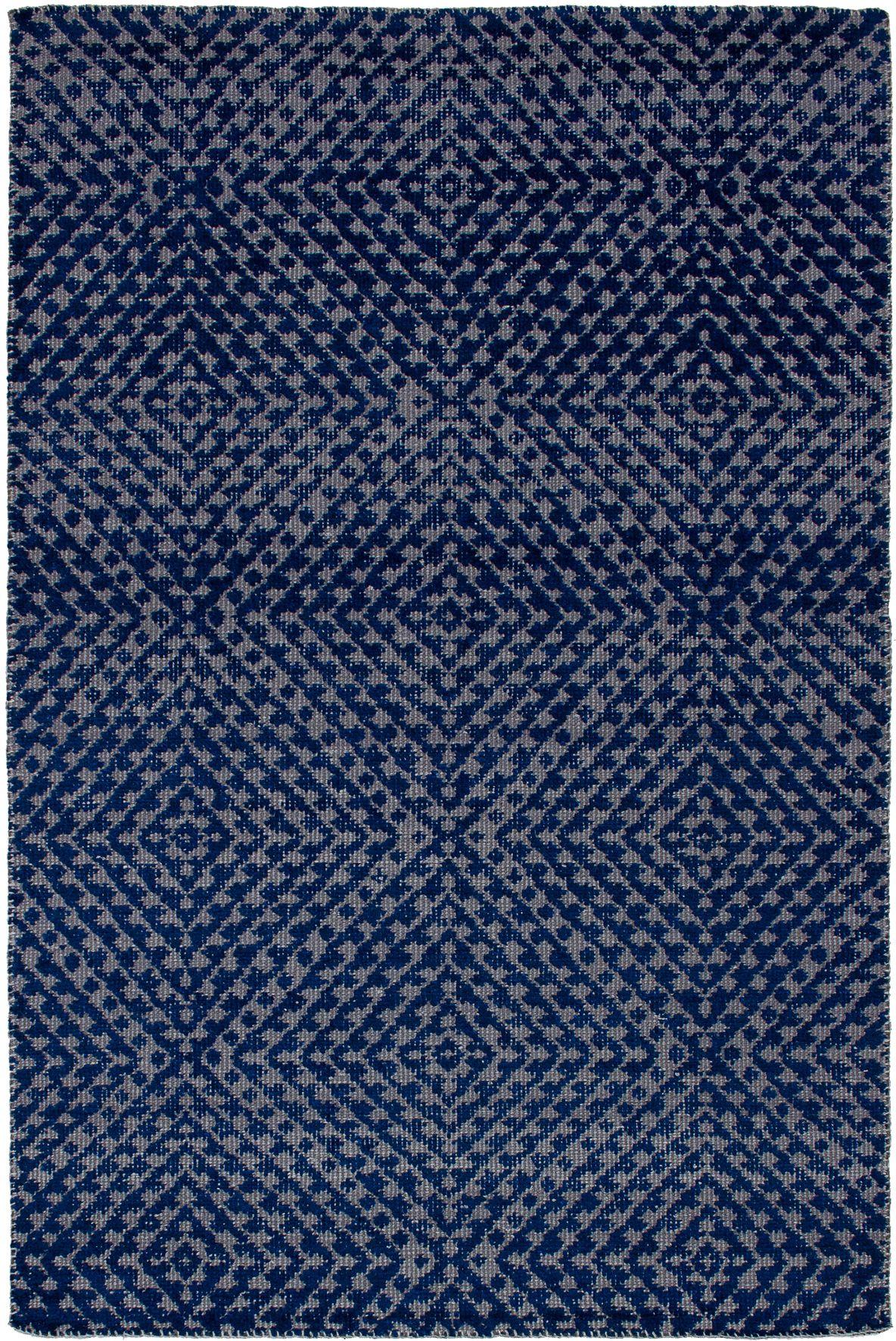 "Hand-knotted La Seda Dark Blue  Rug 5'3"" x 7'11"" Size: 5'3"" x 7'11"""