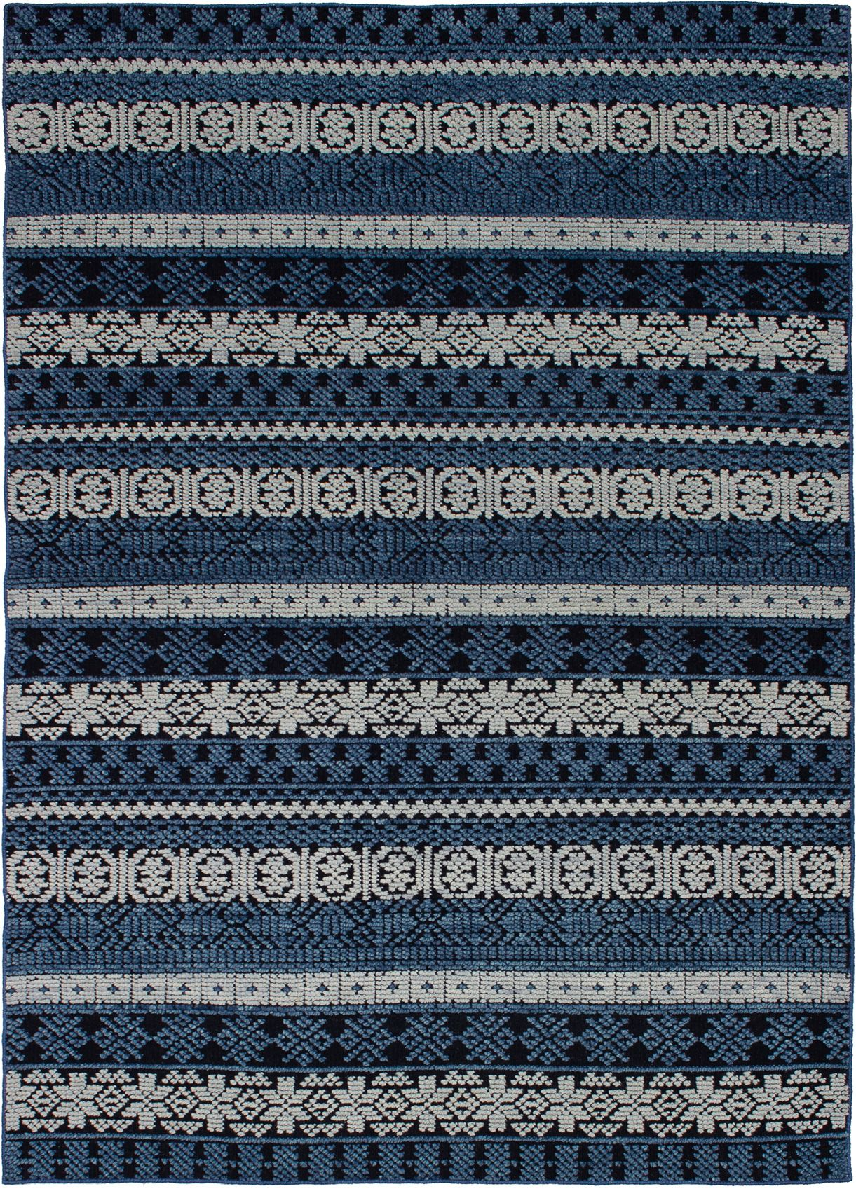 """Hand-knotted Eternity Blue  Rug 5'5"""" x 7'8"""" Size: 5'5"""" x 7'8"""""""