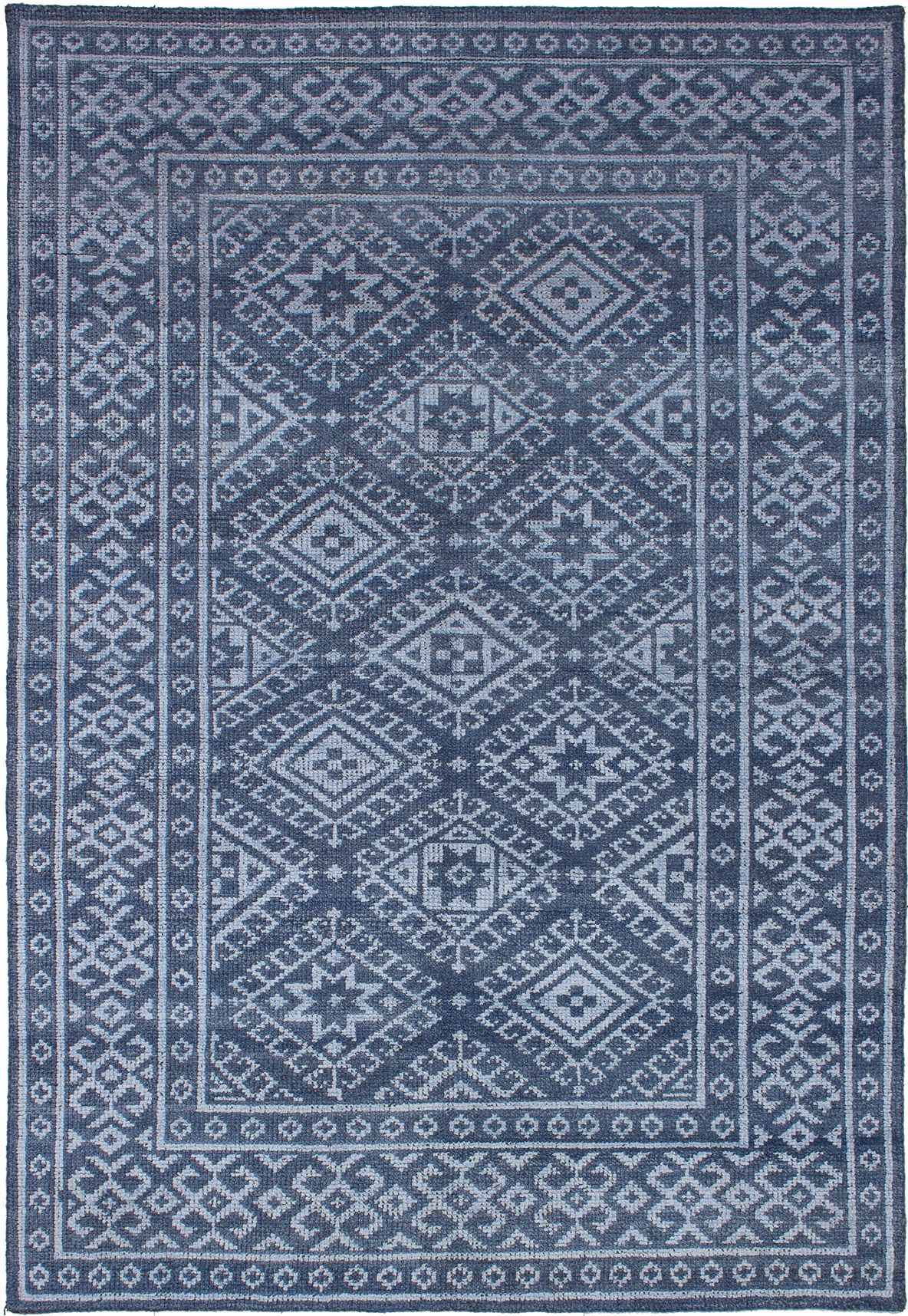 "Hand-knotted La Seda Blue  Rug 5'3"" x 7'9"" Size: 5'3"" x 7'9"""