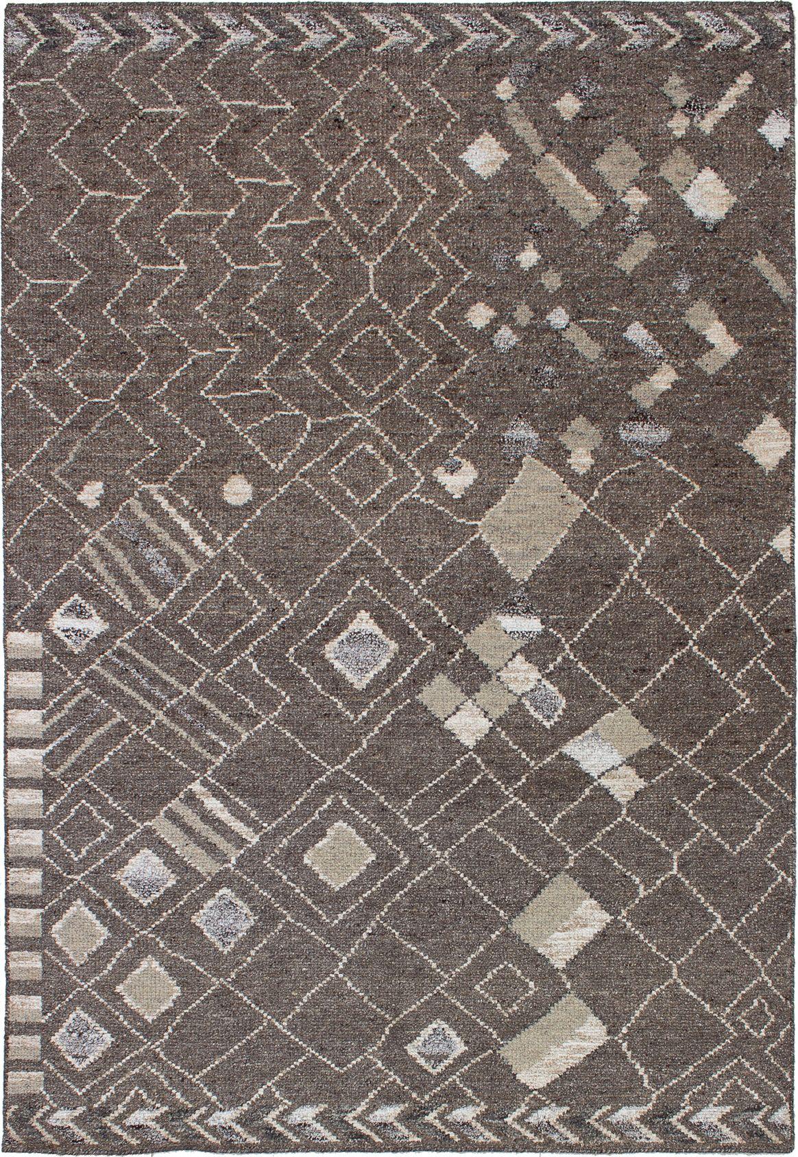 "Hand-knotted La Seda Dark Brown Wool/Silk Rug 5'3"" x 7'7"" Size: 5'3"" x 7'7"""