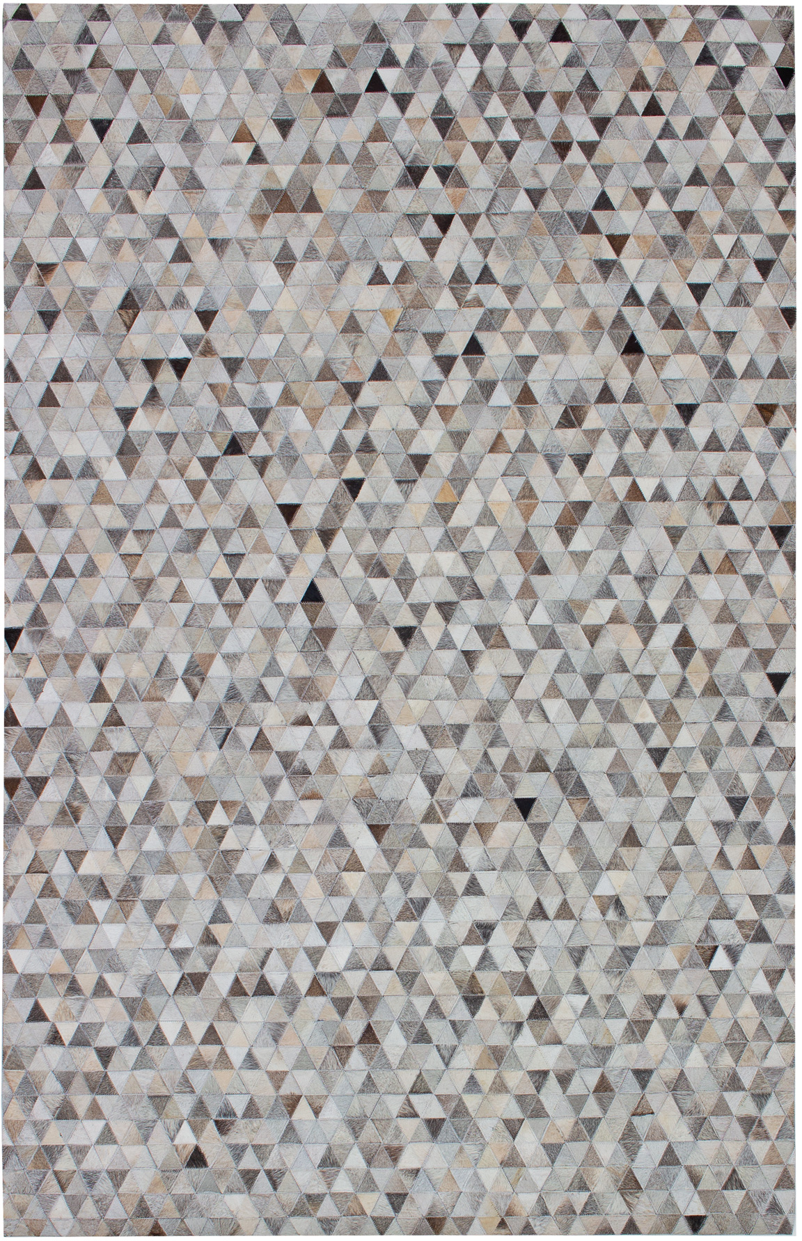 """Handmade Cowhide Patchwork Grey Leather Rug 5'2"""" x 8'1"""" Size: 5'2"""" x 8'1"""""""