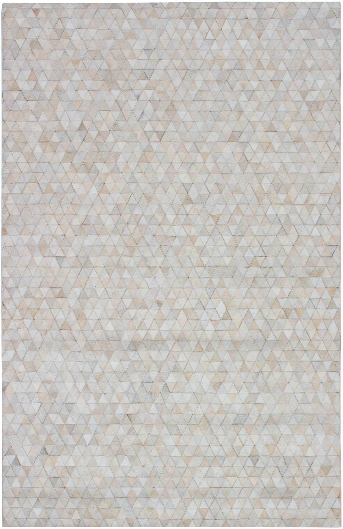 """Handmade Cowhide Patchwork Ivory Leather Rug 5'0"""" x 8'0"""" Size: 5'0"""" x 8'0"""""""