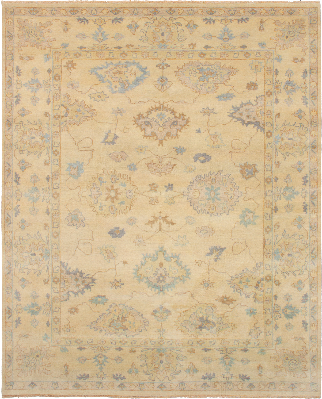 """Hand-knotted Elysee Finest Ushak Cream Wool Rug 8'1"""" x 10'0"""" Size: 8'1"""" x 10'0"""""""