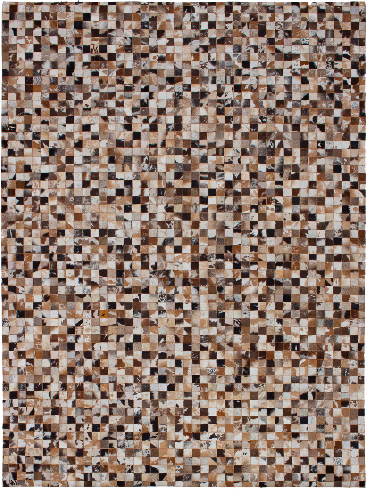 """Handmade Cowhide Patchwork Light Brown Leather Rug 5'5"""" x 7'5"""" Size: 5'5"""" x 7'5"""""""