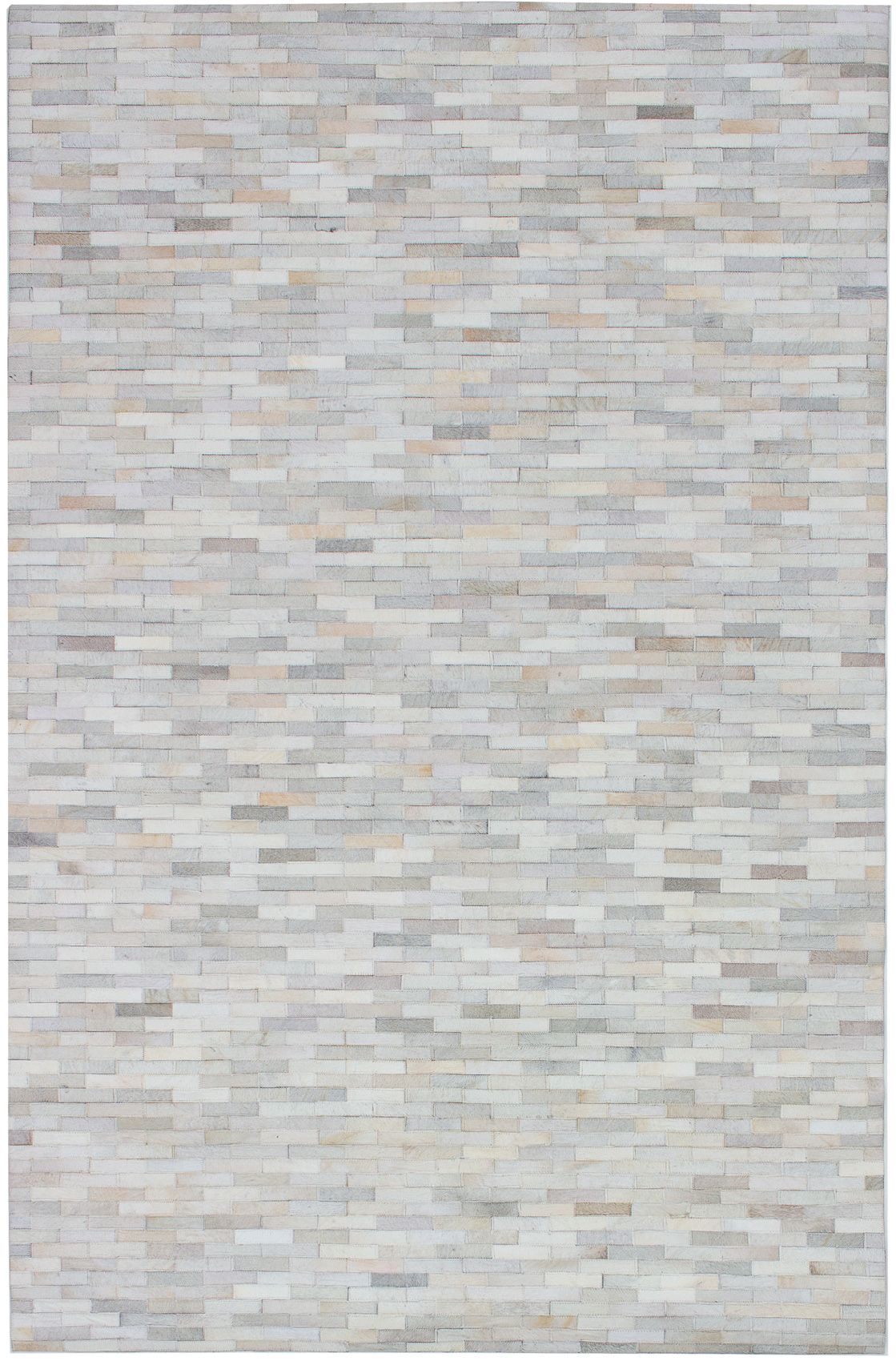 """Handmade Cowhide Patchwork Ivory Leather Rug 5'1"""" x 7'11"""" Size: 5'1"""" x 7'11"""""""