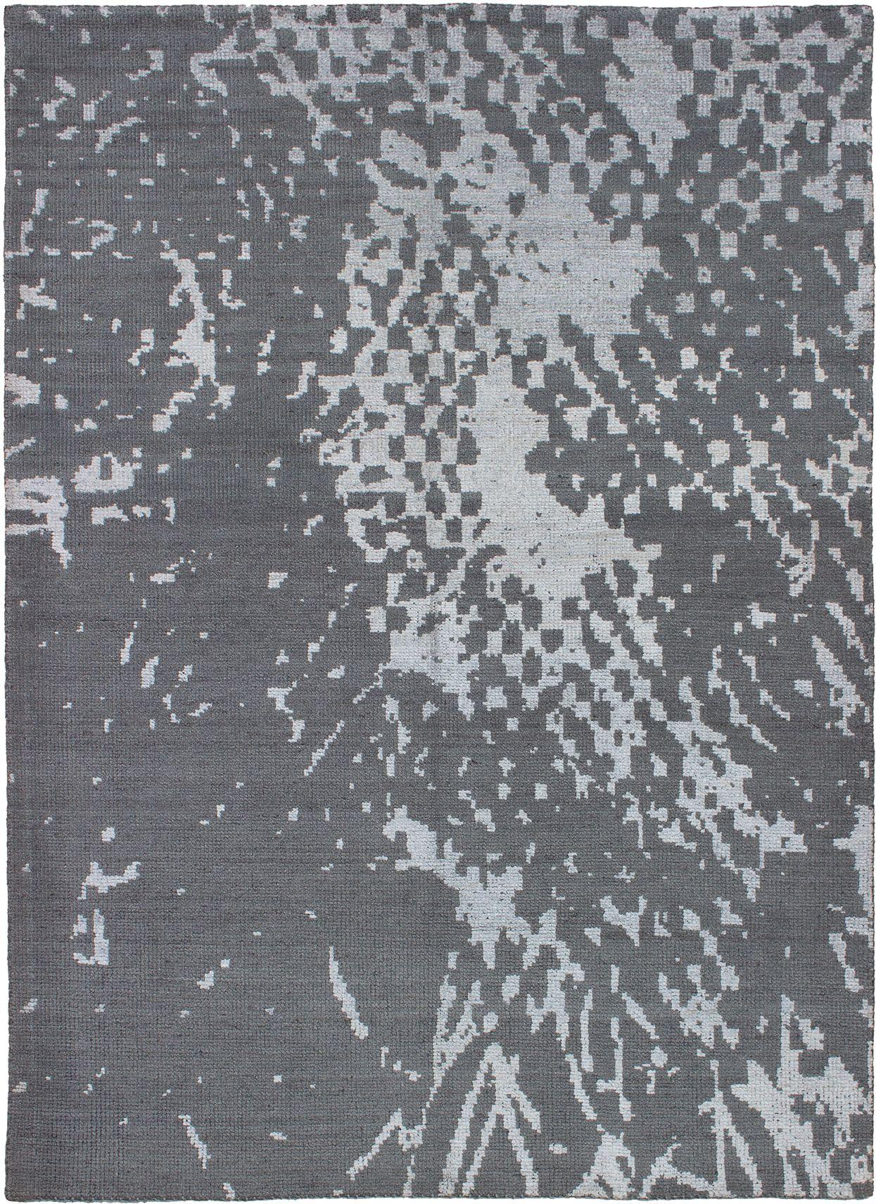 "Hand-knotted La Seda Dark Grey,   Rug 5'8"" x 7'10"" Size: 5'8"" x 7'10"""