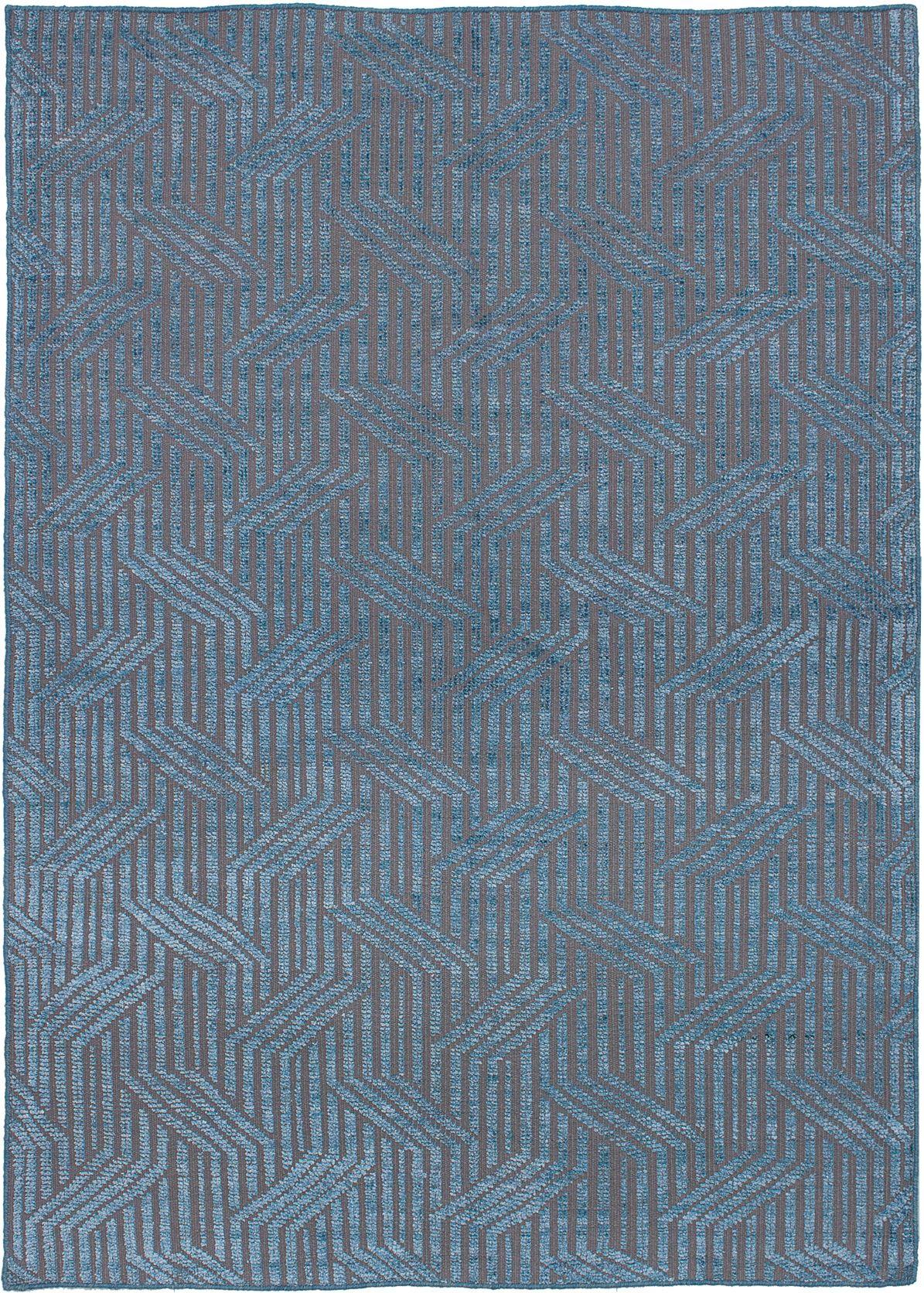 "Hand-knotted La Seda Sky Blue  Rug 5'3"" x 7'4"" Size: 5'3"" x 7'4"""
