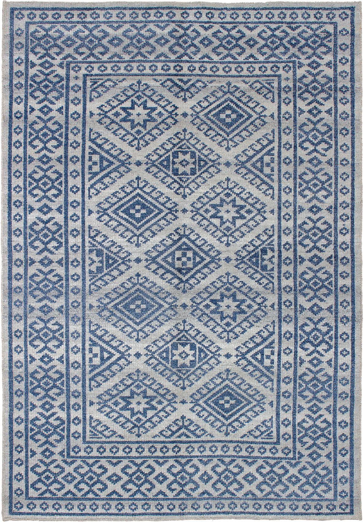 "Hand-knotted La Seda Blue  Rug 5'3"" x 7'7"" Size: 5'3"" x 7'7"""
