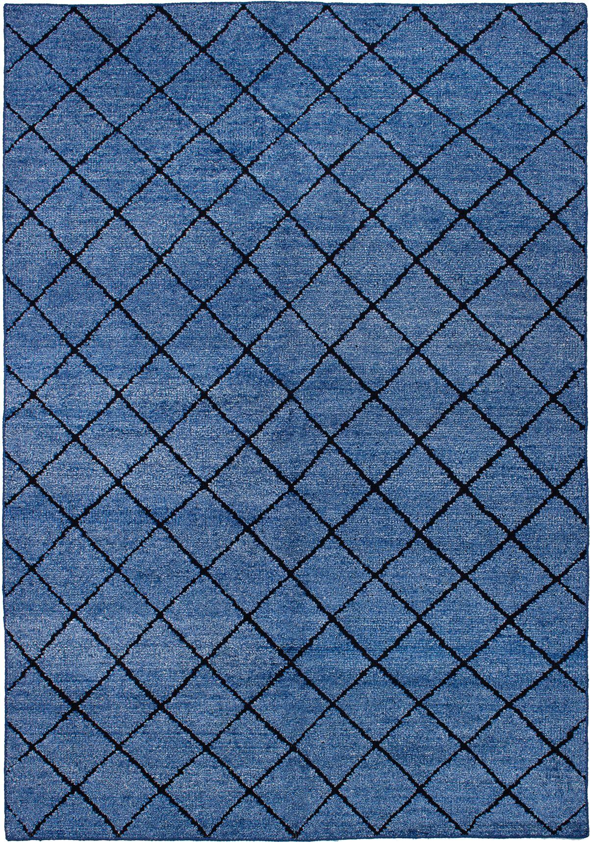 "Hand-knotted La Seda Blue  Rug 5'3"" x 7'6"" Size: 5'3"" x 7'6"""