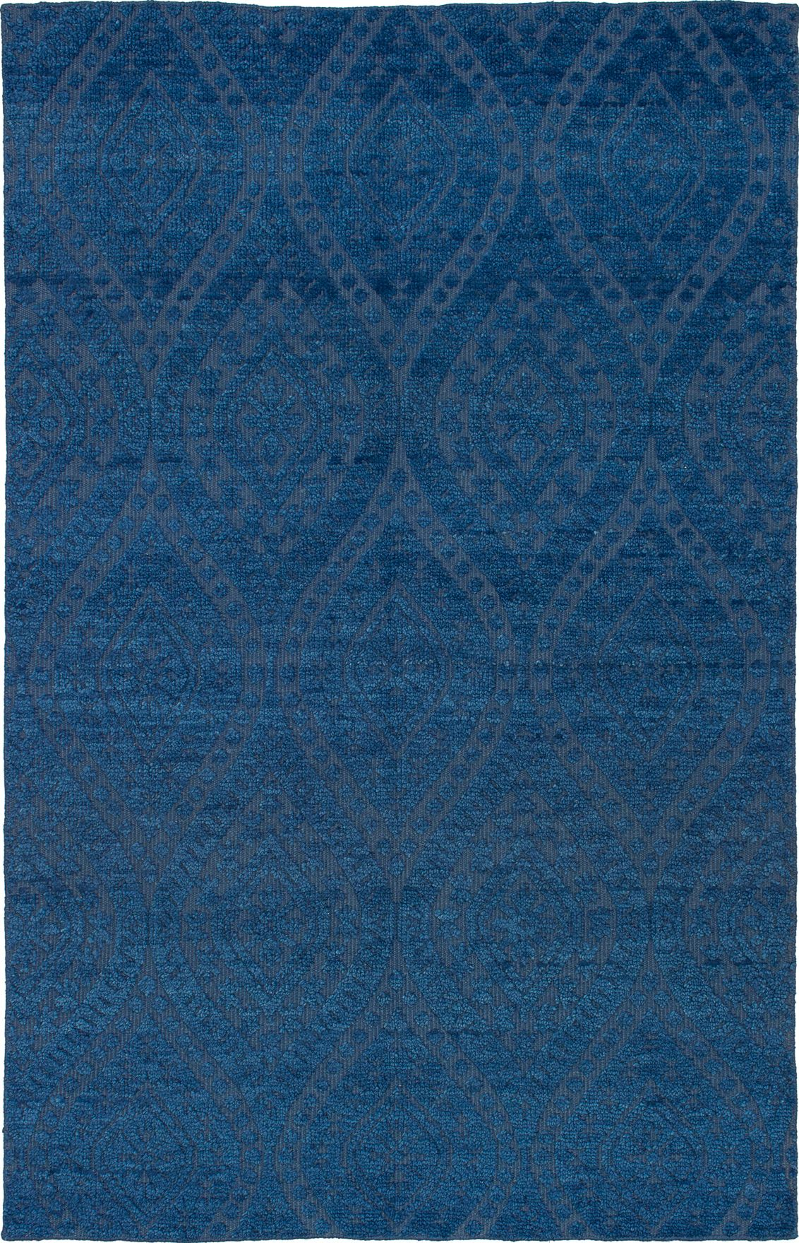 """Hand-knotted Eternity Blue Wool Rug 5'0"""" x 7'10"""" Size: 5'0"""" x 7'10"""""""