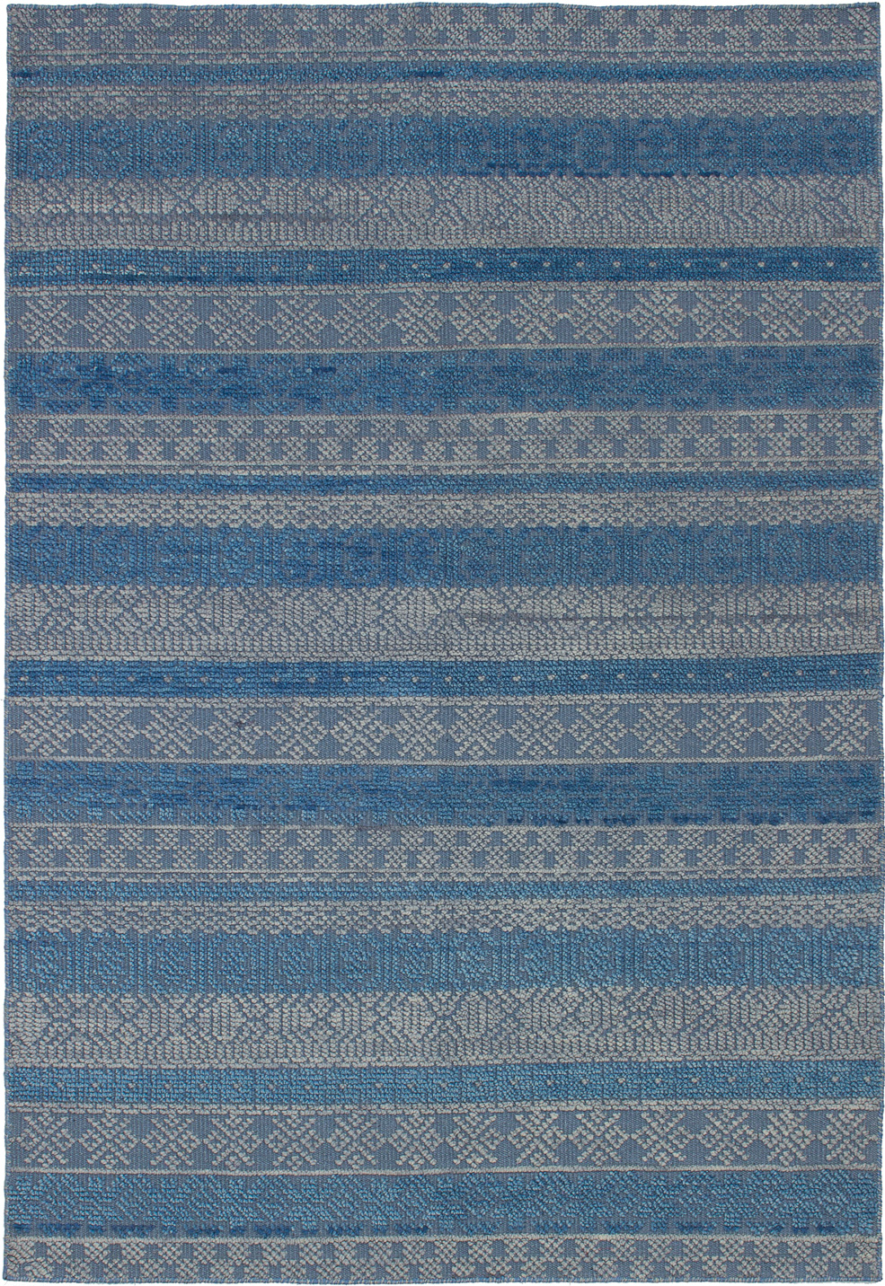 """Hand-knotted Eternity Blue Wool Rug 5'3"""" x 7'7"""" Size: 5'3"""" x 7'7"""""""