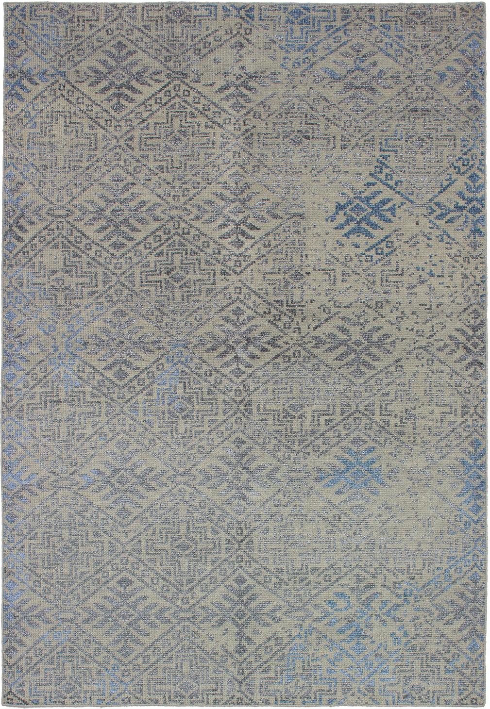 """Hand-knotted La Seda Khaki  Rug 5'3"""" x 7'9"""" Size: 5'3"""" x 7'9"""""""