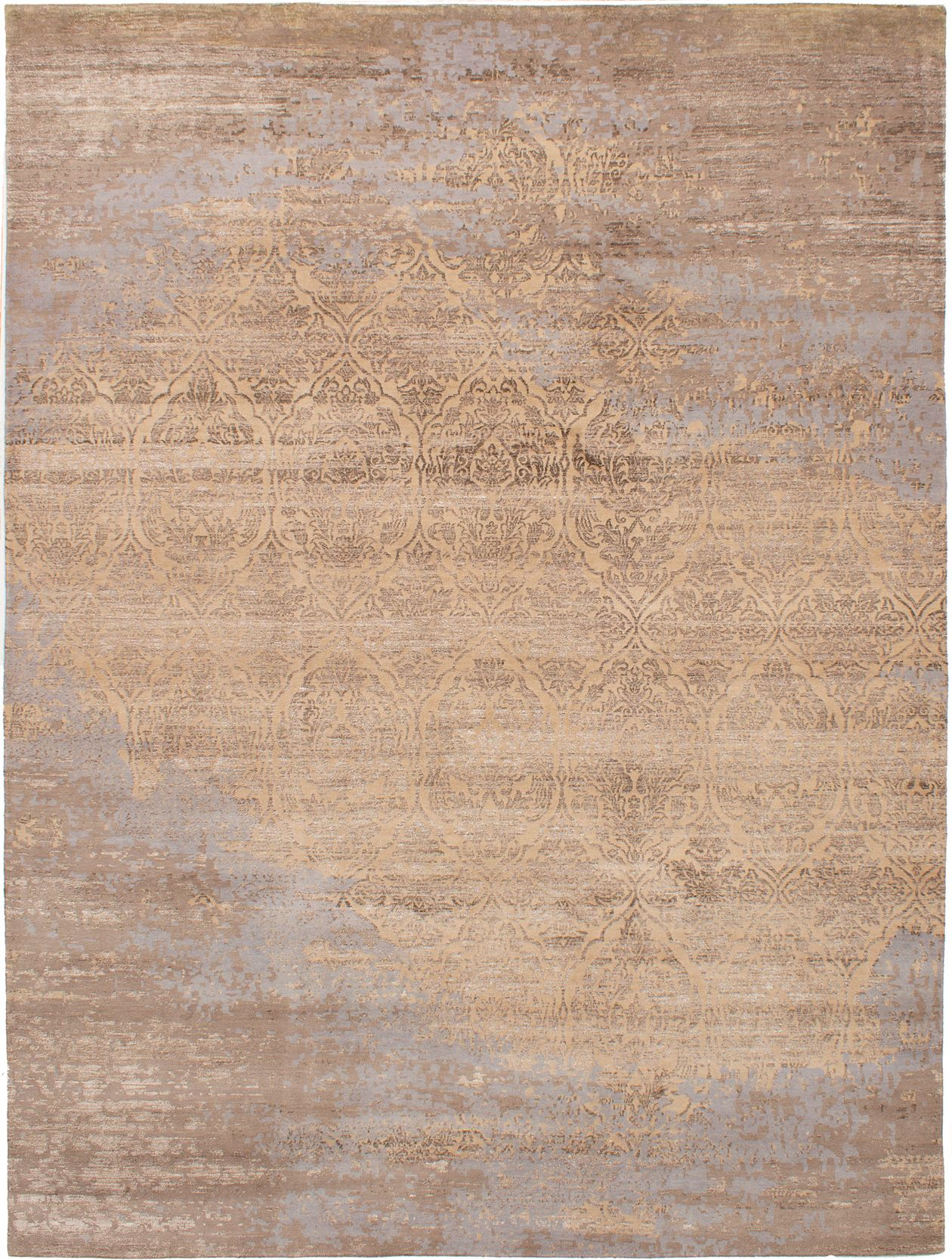 "Hand-knotted Elixir Tan  Rug 8'10"" x 11'10"" Size: 8'10"" x 11'10"""