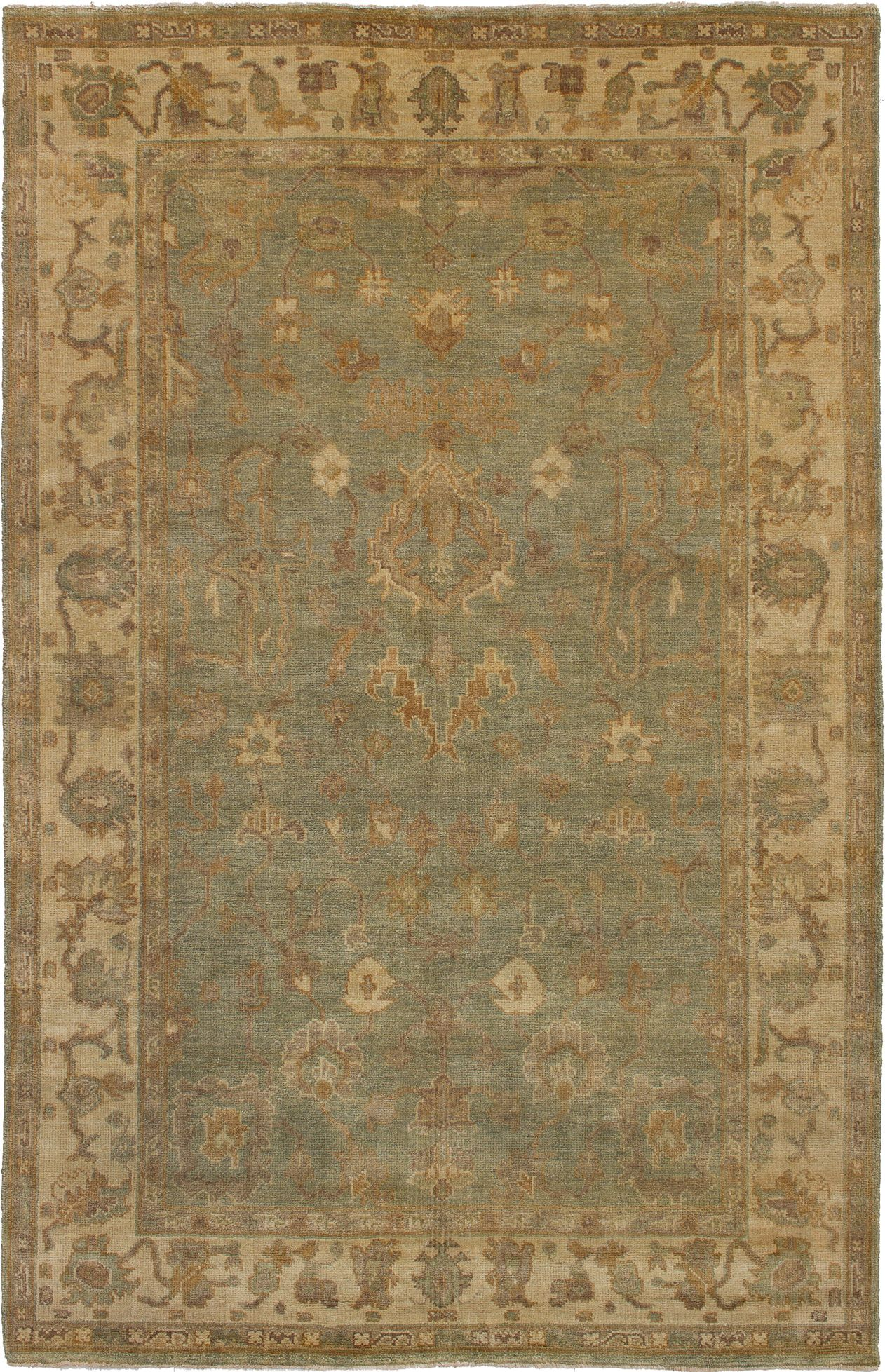"Hand-knotted Royal Ushak Grey Wool Rug 5'6"" x 8'8"" Size: 5'6"" x 8'8"""
