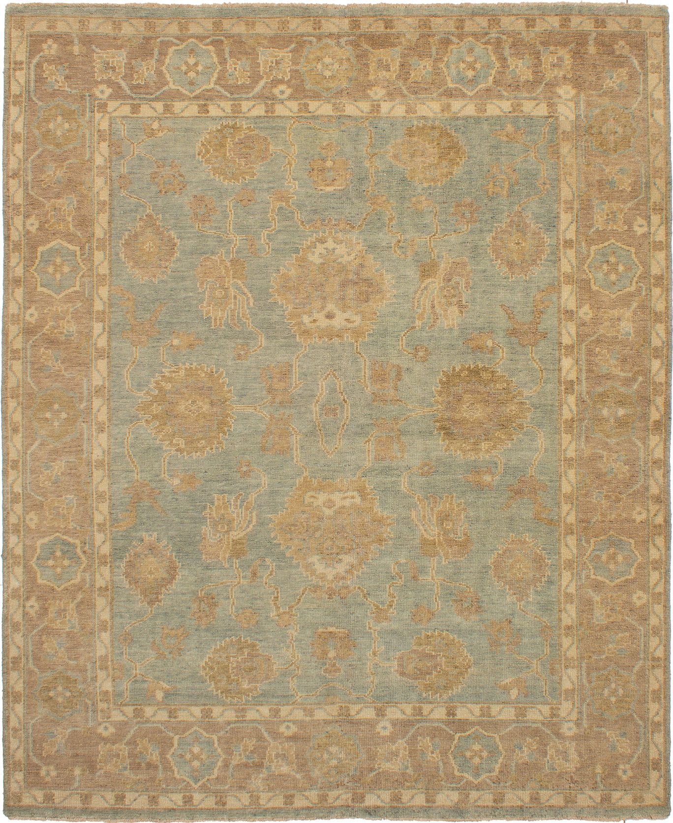 """Hand-knotted Beaumont Light Denim Blue Wool Rug 8'0"""" x 9'10"""" Size: 8'0"""" x 9'10"""""""