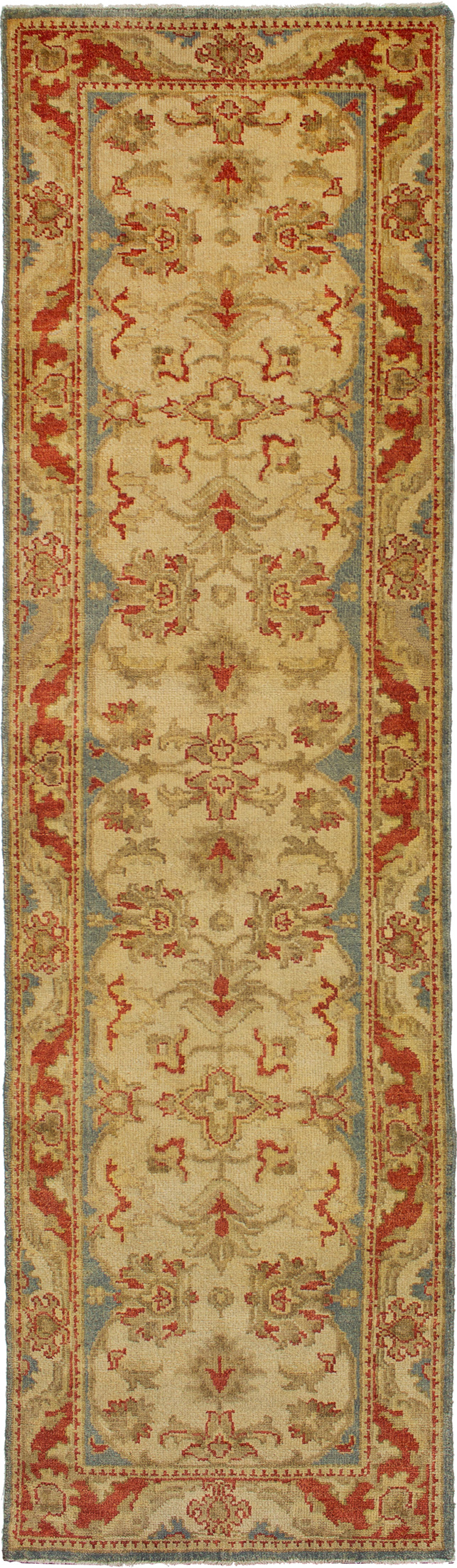 "Hand-knotted Royal Ushak Cream Wool Rug 2'9"" x 9'11"" Size: 2'9"" x 9'11"""