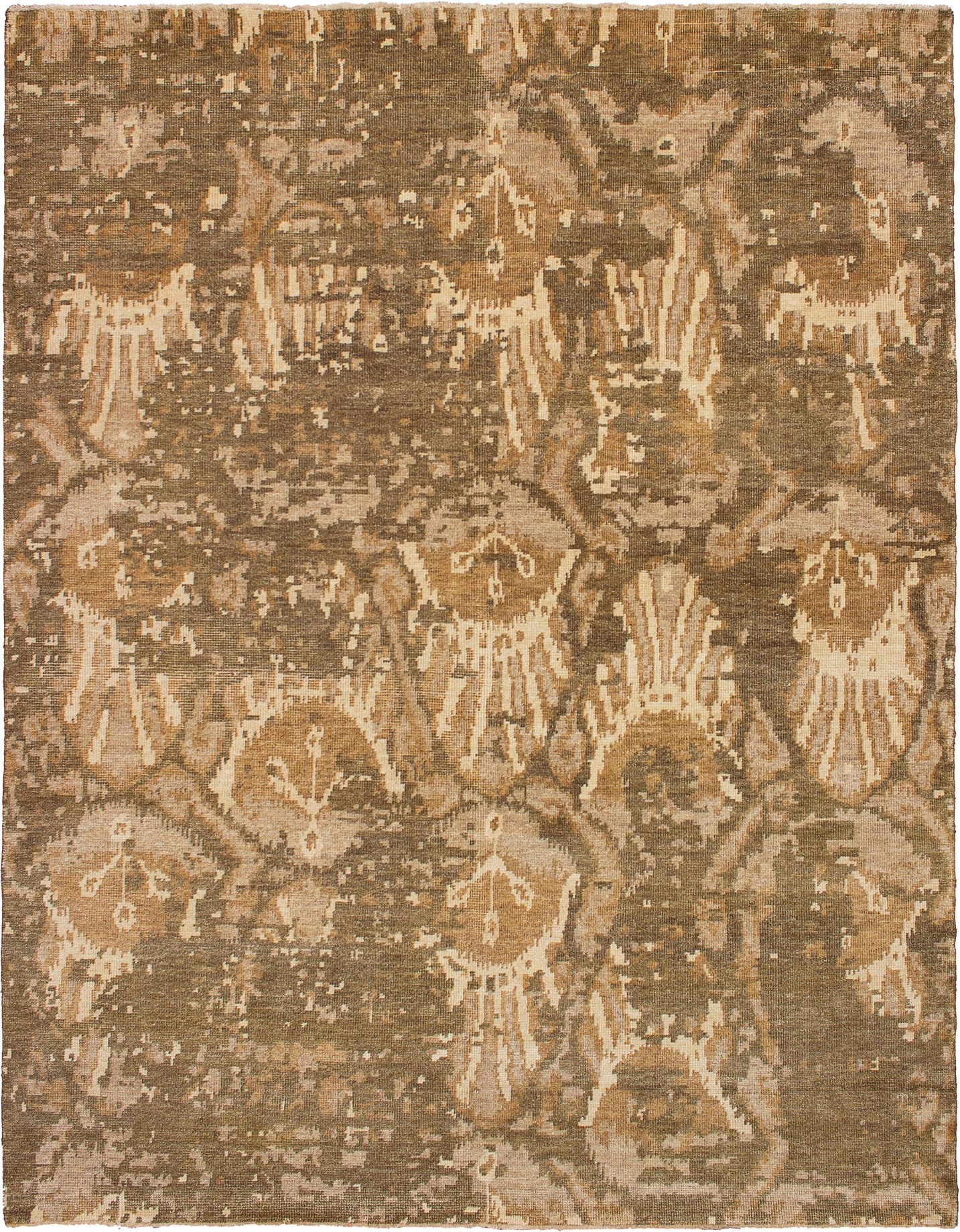 "Hand-knotted Elixir Dark Brown Wool Rug 7'7"" x 9'9"" Size: 7'7"" x 9'9"""