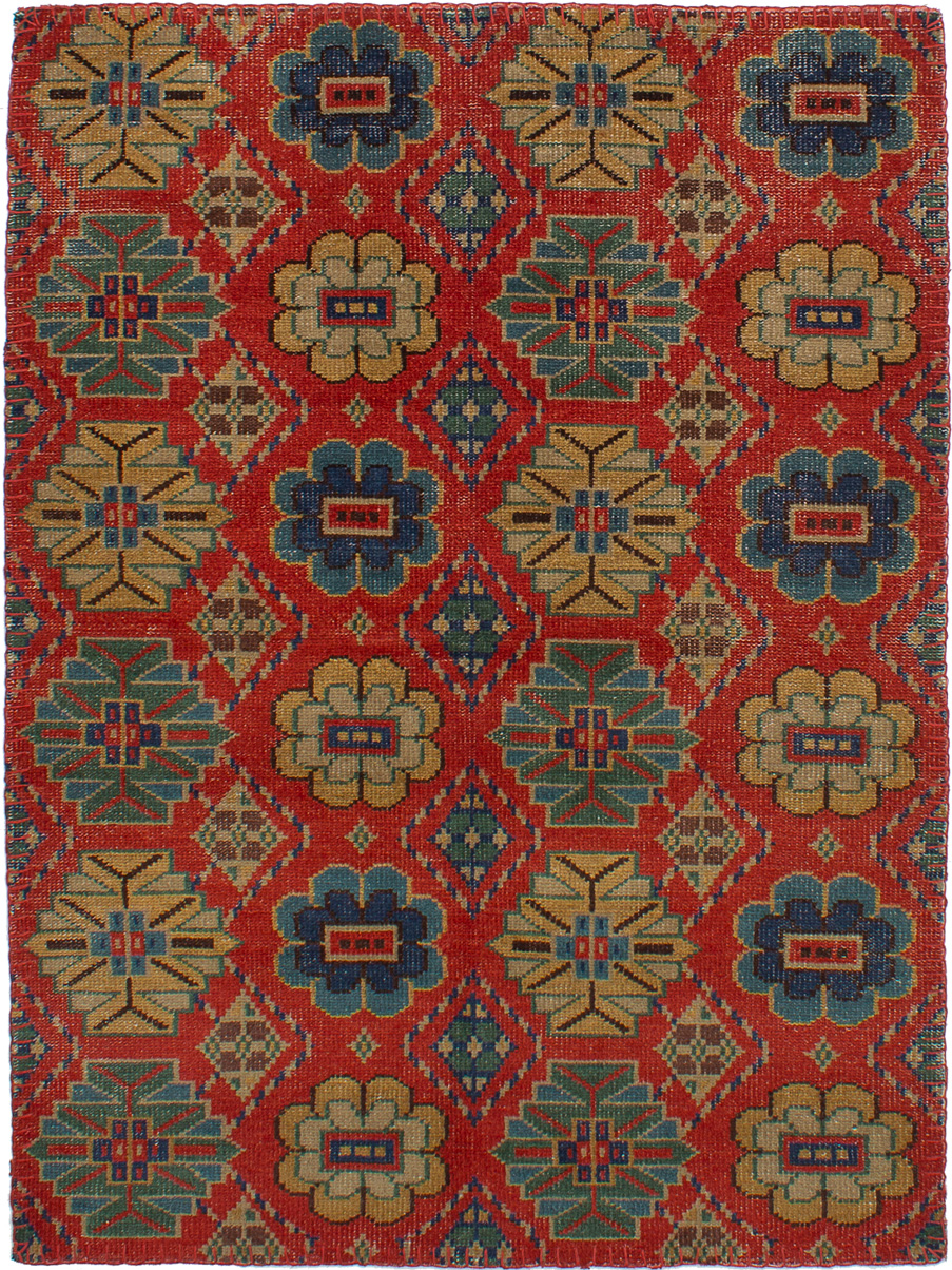 """Hand-knotted Mystique Red Wool Rug 5'1"""" x 7'1"""" Size: 5'1"""" x 7'1"""""""