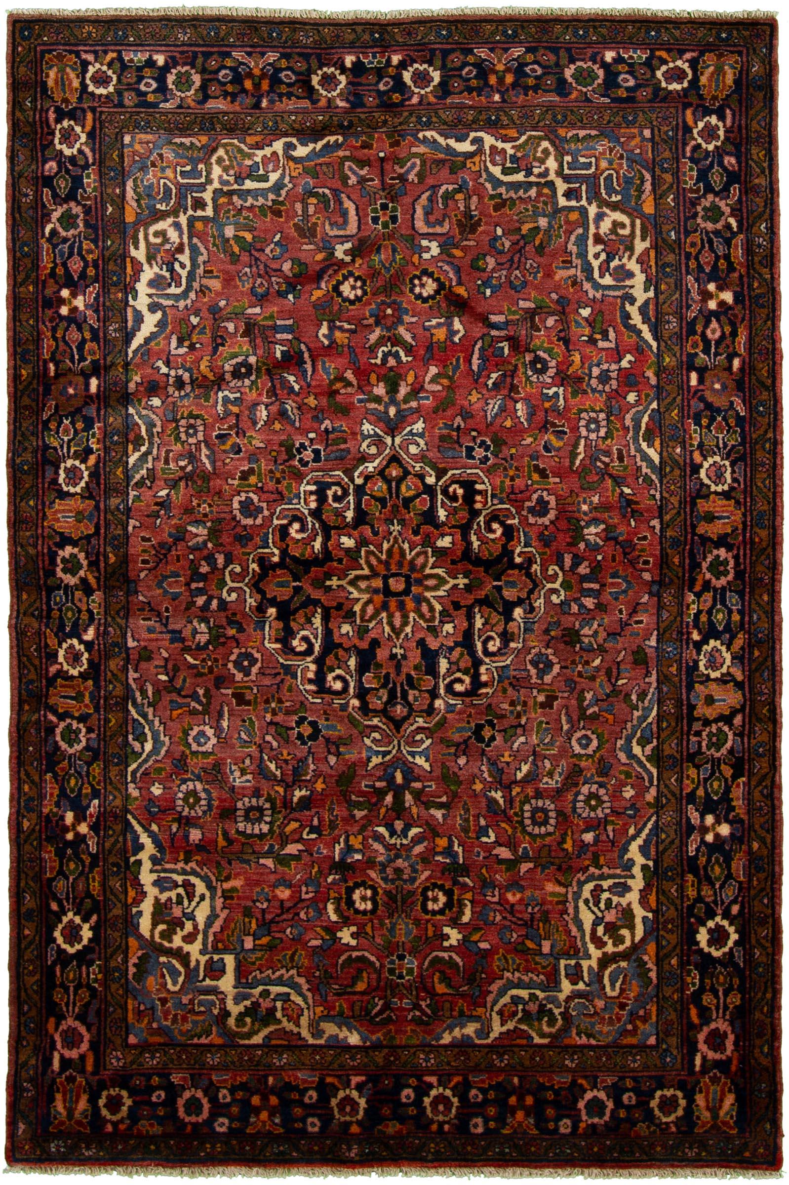 "Hand-knotted Borchelu Dark Copper Wool Rug 4'8"" x 7'0"" Size: 4'8"" x 7'0"""
