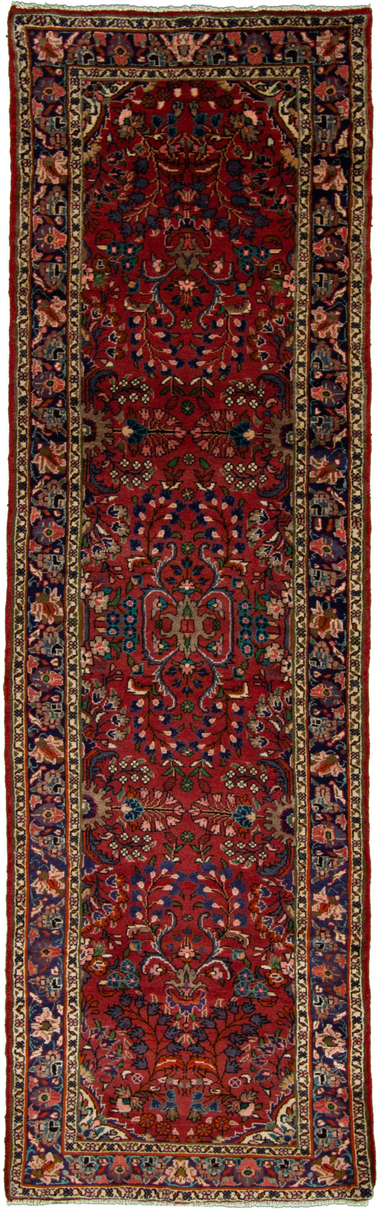 """Hand-knotted Lilihan Red Wool Rug 2'11"""" x 9'5"""" Size: 2'11"""" x 9'5"""""""