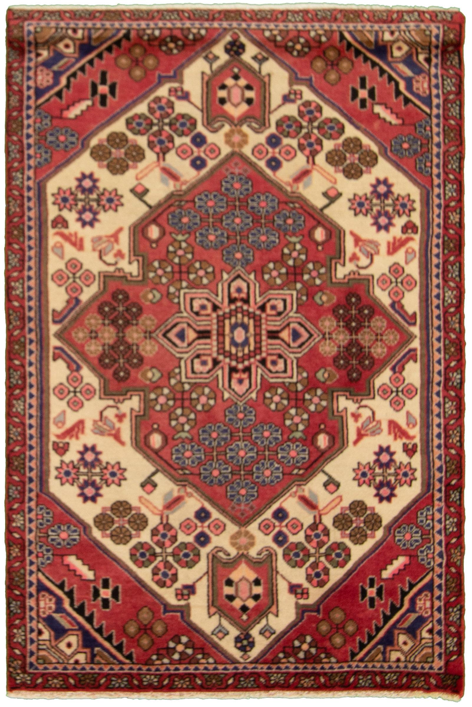 "Hand-knotted Hamadan Dark Copper Wool Rug 3'3"" x 4'11""  Size: 3'3"" x 4'11"""