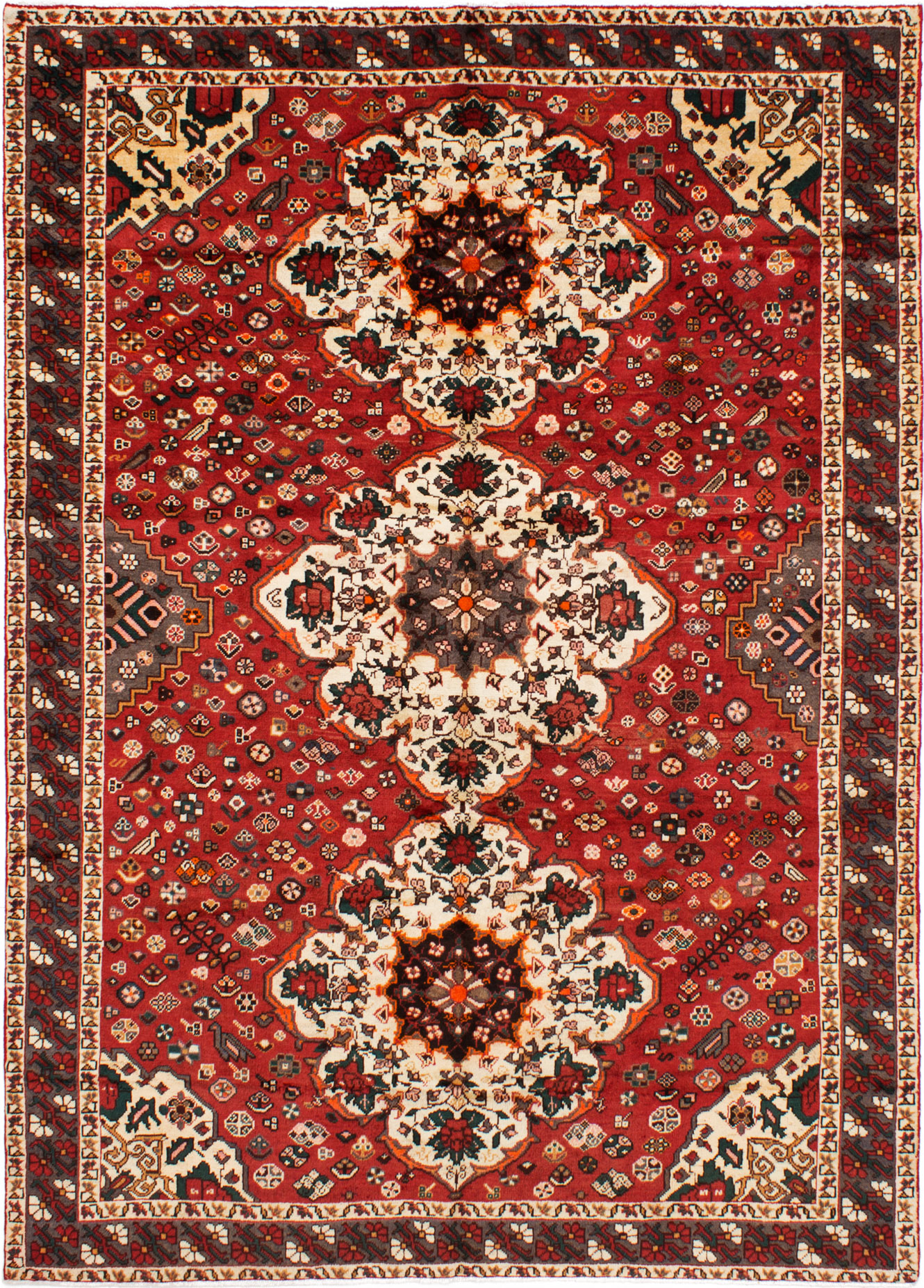 """Hand-knotted Bakhtiar Red Wool Rug 7'2"""" x 10'0"""" Size: 7'2"""" x 10'0"""""""