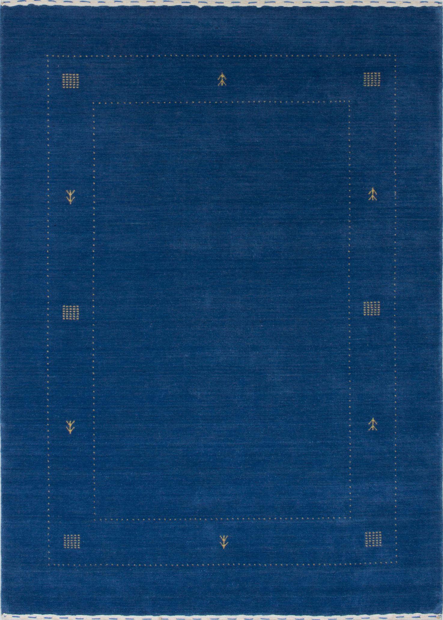 """Hand-knotted Luribaft Gabbeh Riz Blue Wool Rug 5'0"""" x 6'9"""" Size: 5'0"""" x 6'9"""""""