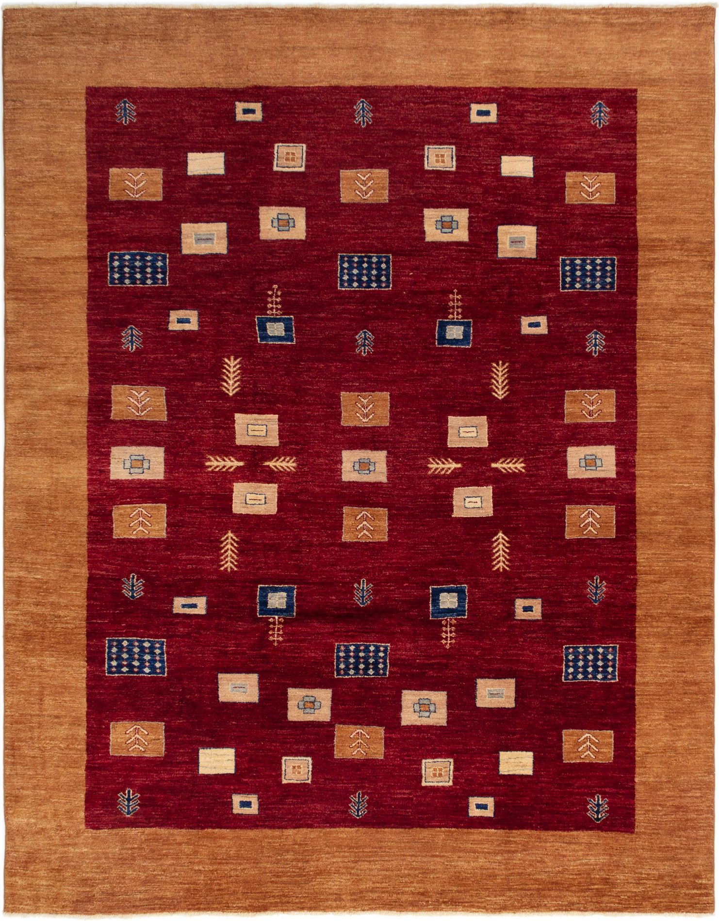 "Hand-knotted Finest Ziegler Chobi Dark Red Wool Rug 8'5"" x 10'7"" Size: 8'5"" x 10'7"""