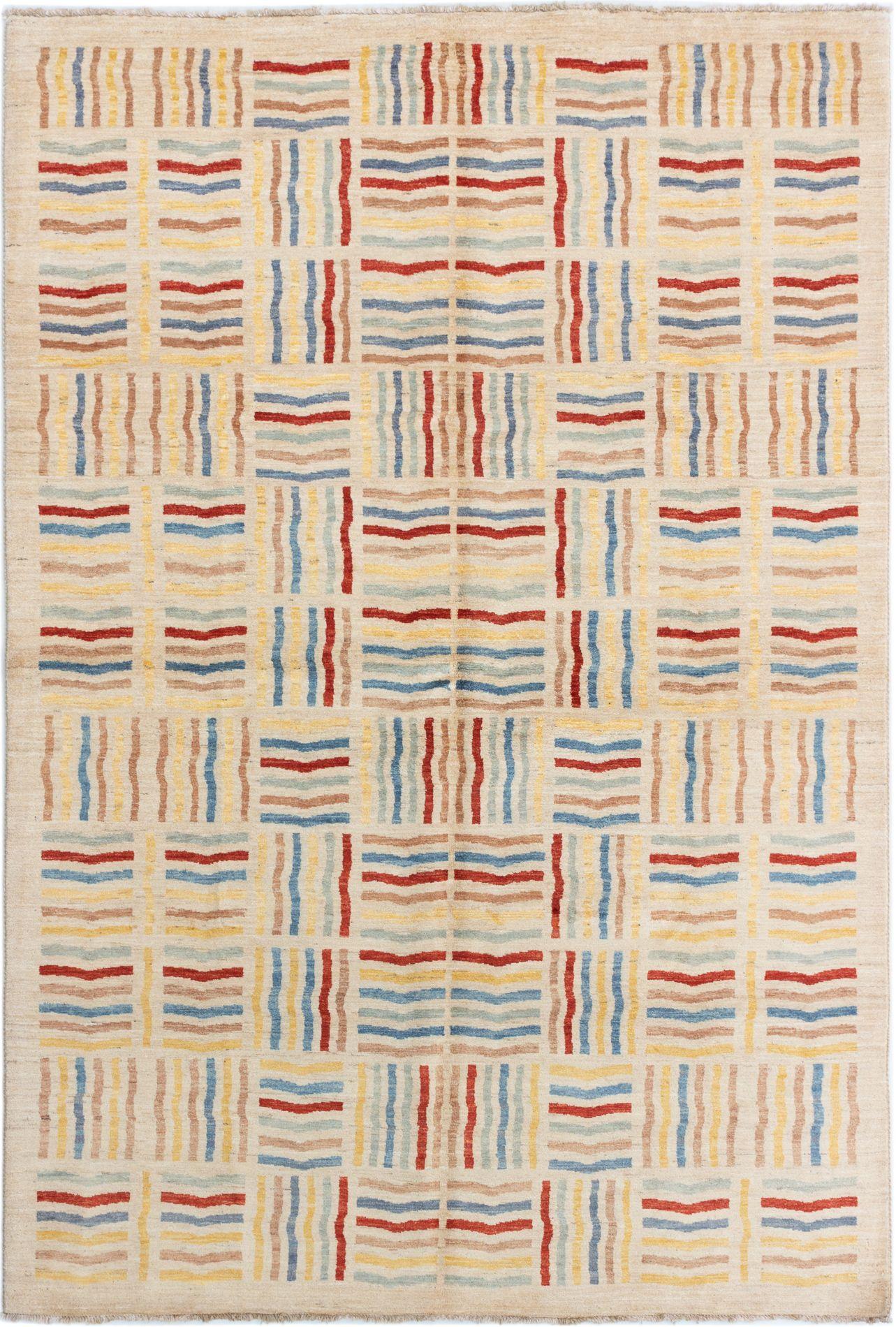"Hand-knotted Finest Ziegler Chobi Beige Wool Rug 6'6"" x 9'10"" Size: 6'6"" x 9'10"""