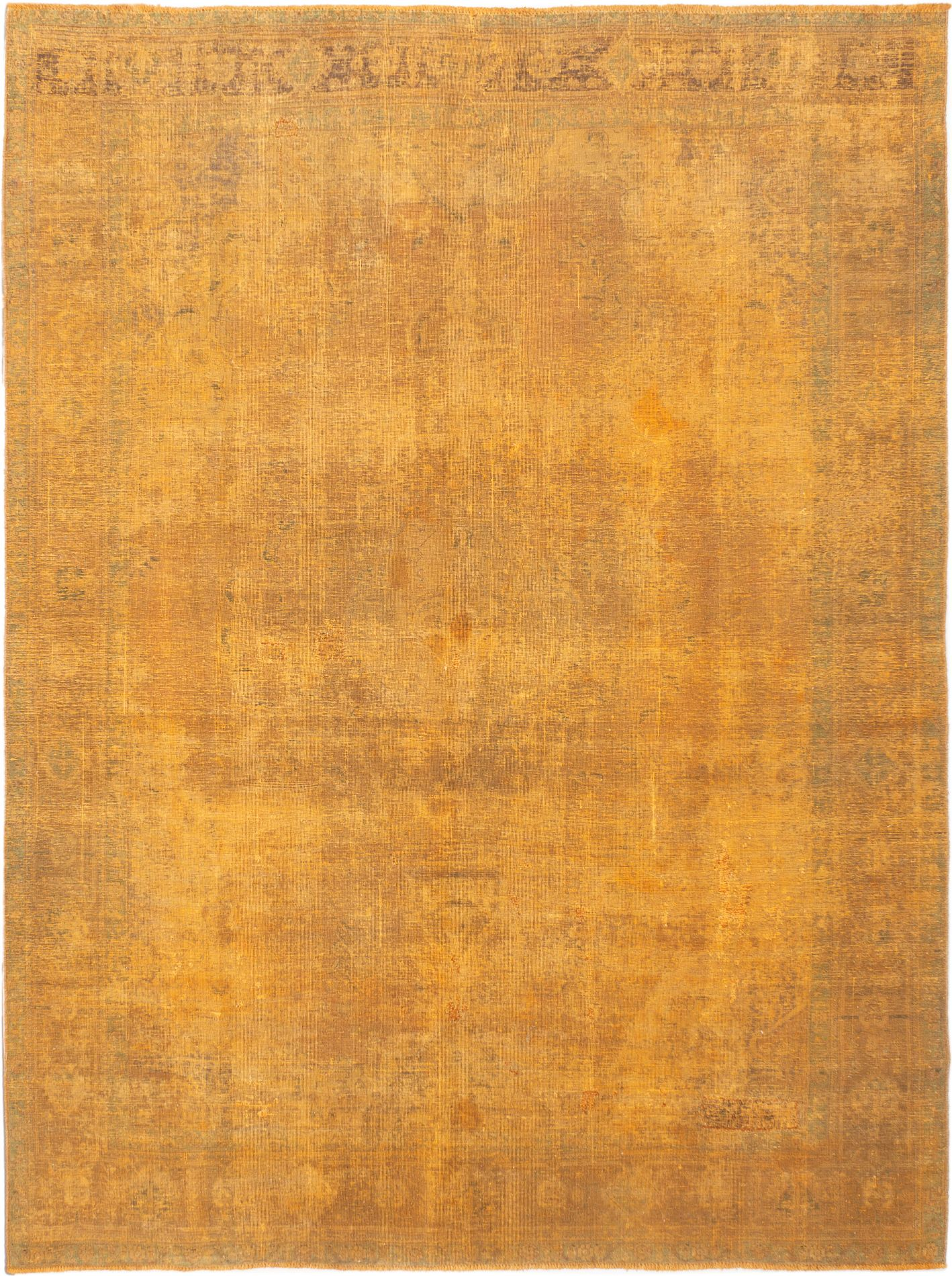 """Hand-knotted Color Transition Light Orange Wool Rug 9'5"""" x 12'6"""" Size: 9'5"""" x 12'6"""""""