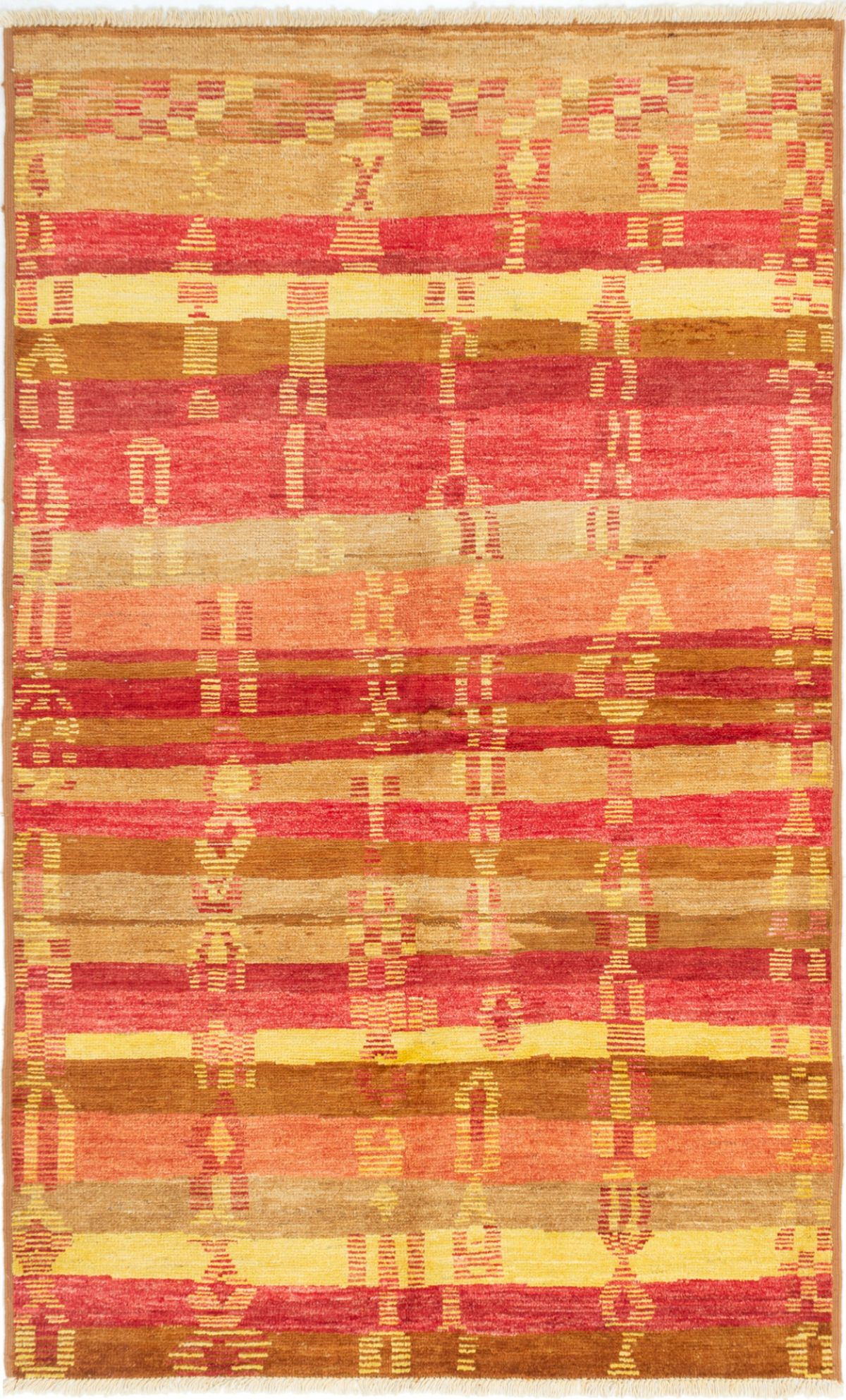 """Hand-knotted Shalimar Red Wool Rug 6'0"""" x 9'9"""" Size: 6'0"""" x 9'9"""""""