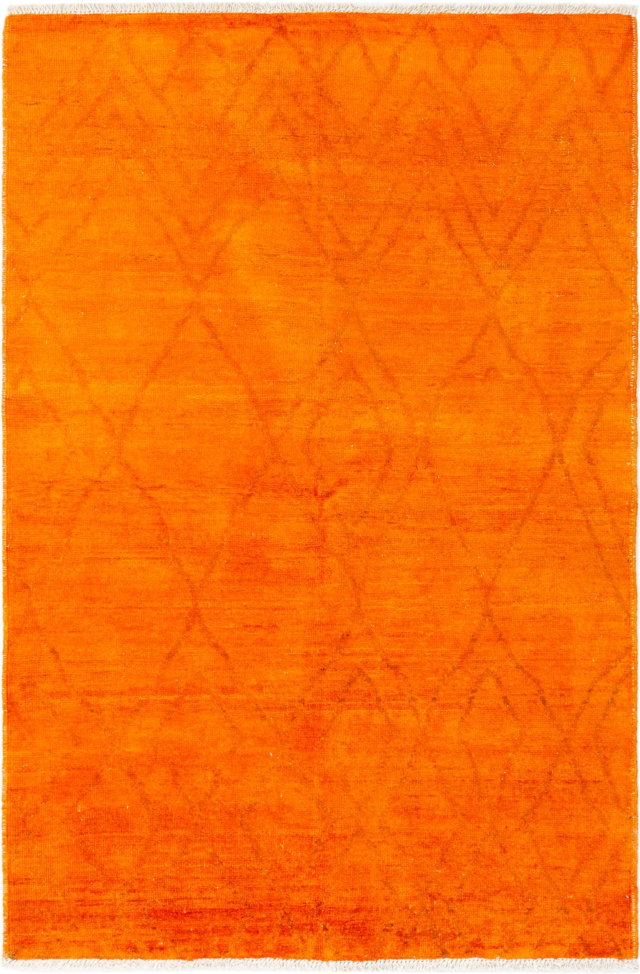 """Hand-knotted Vibrance Orange Wool Rug 5'9"""" x 8'10"""" Size: 5'9"""" x 8'10"""""""