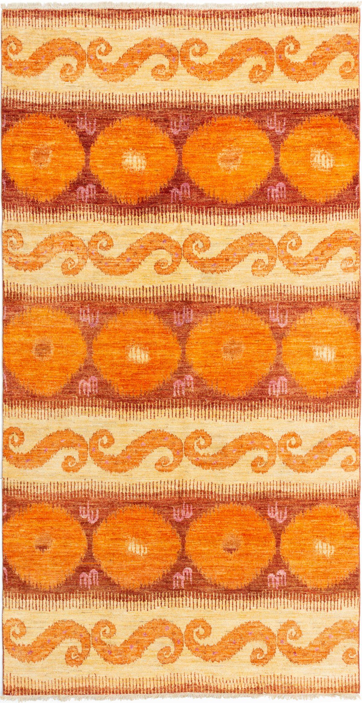 "Hand-knotted Shalimar Orange Wool Rug 6'0"" x 11'6"" Size: 6'0"" x 11'6"""