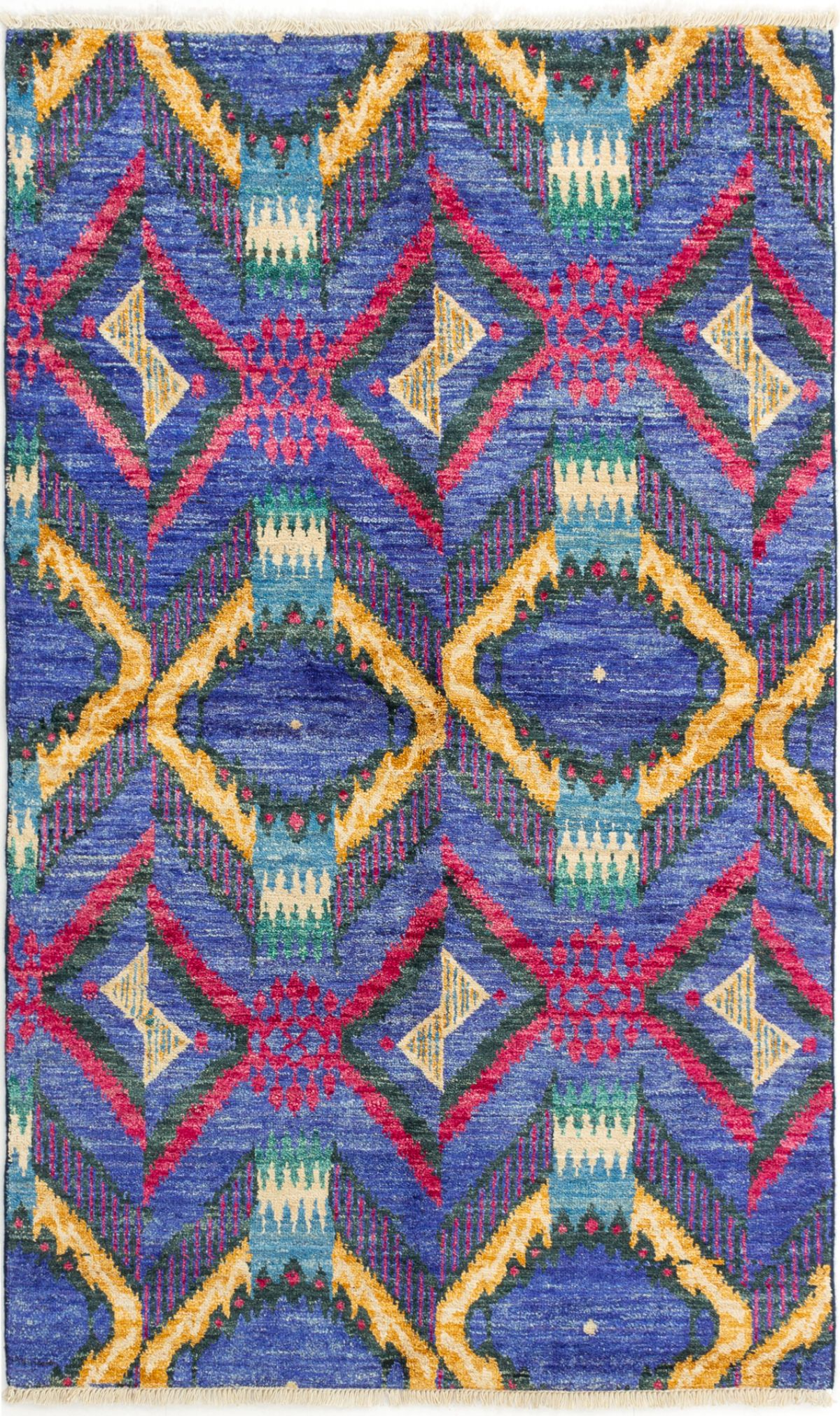 """Hand-knotted Shalimar Blue Wool Rug 4'6"""" x 7'3"""" Size: 4'6"""" x 7'3"""""""