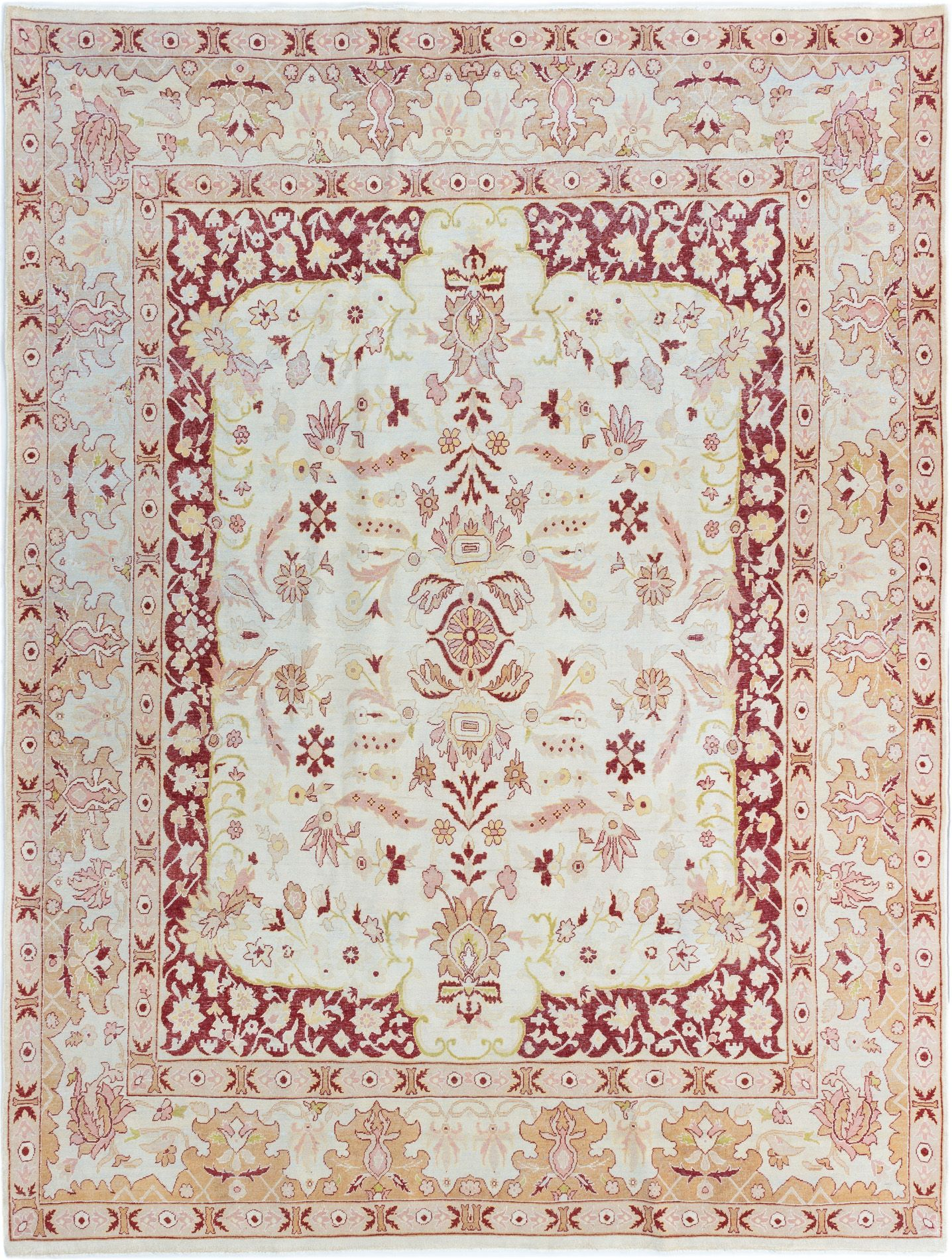 """Hand-knotted Keisari Cream Wool Rug 8'0"""" x 10'7"""" Size: 8'0"""" x 10'7"""""""
