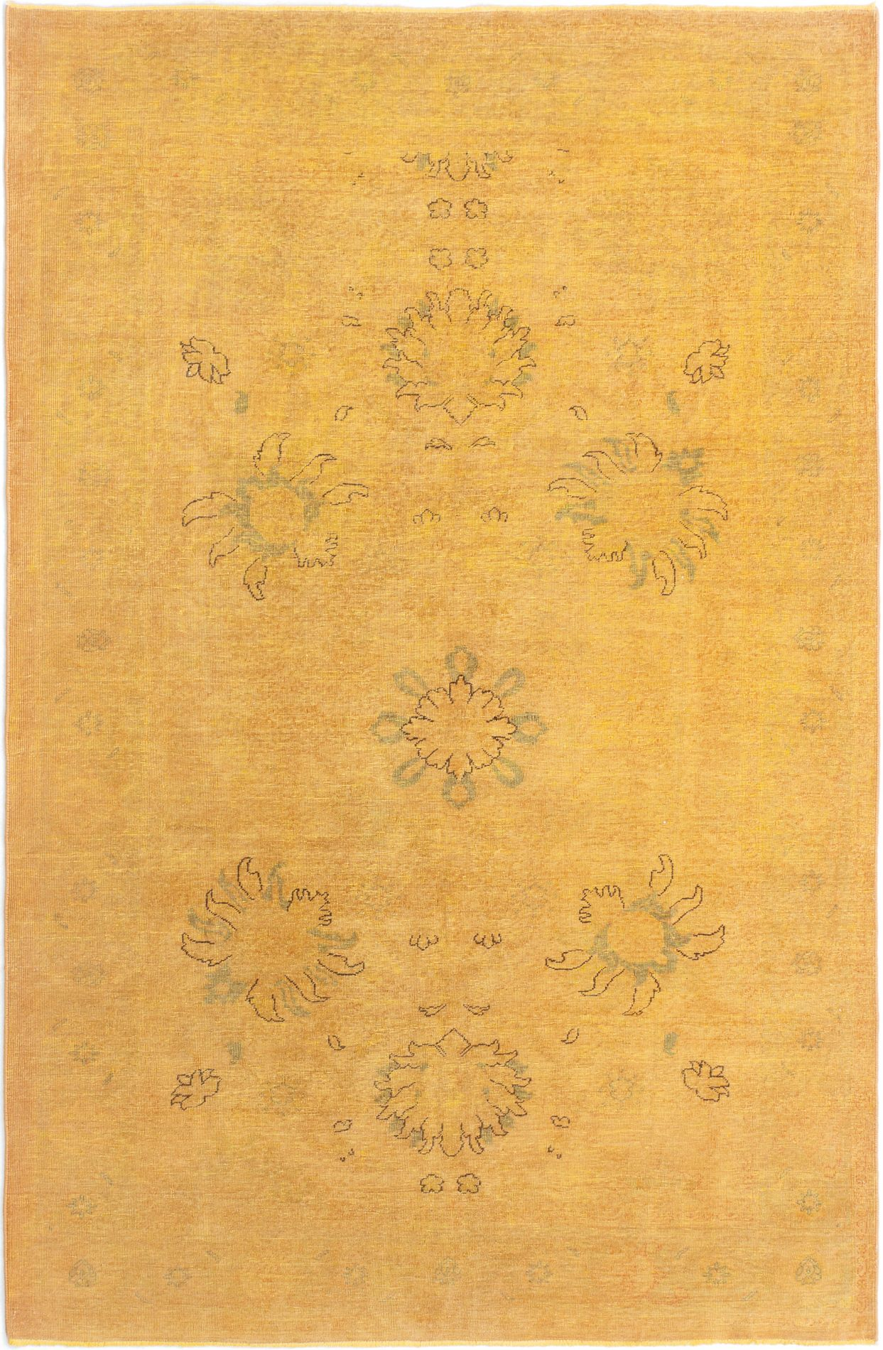 """Hand-knotted Color Transition Burnt Orange Wool Rug 5'9"""" x 8'7"""" Size: 5'9"""" x 8'7"""""""