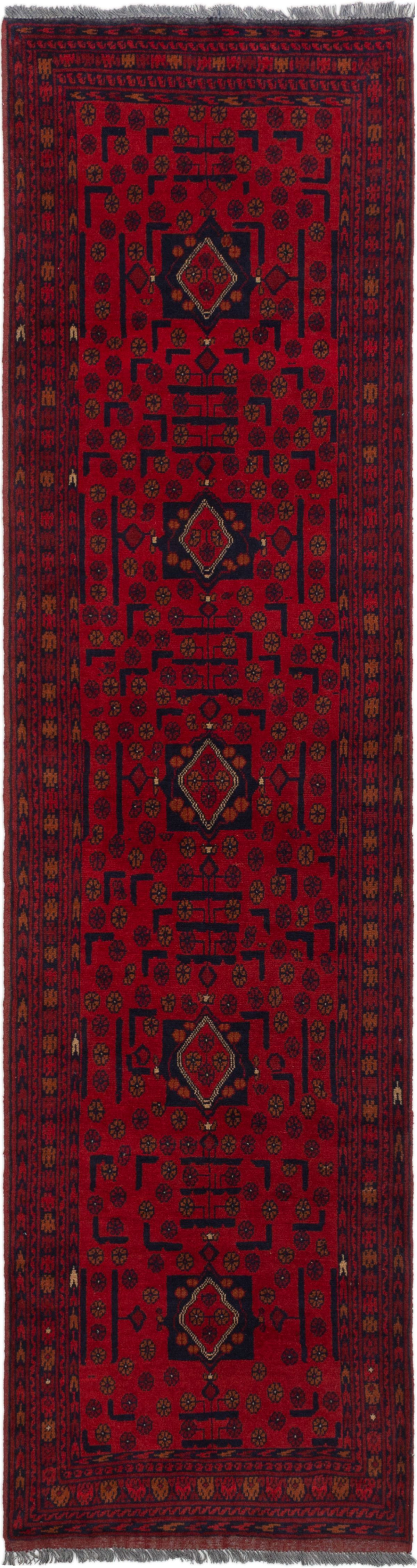 """Hand-knotted Finest Khal Mohammadi Red Wool Rug 2'6"""" x 9'6"""" (15) Size: 2'6"""" x 9'6"""""""