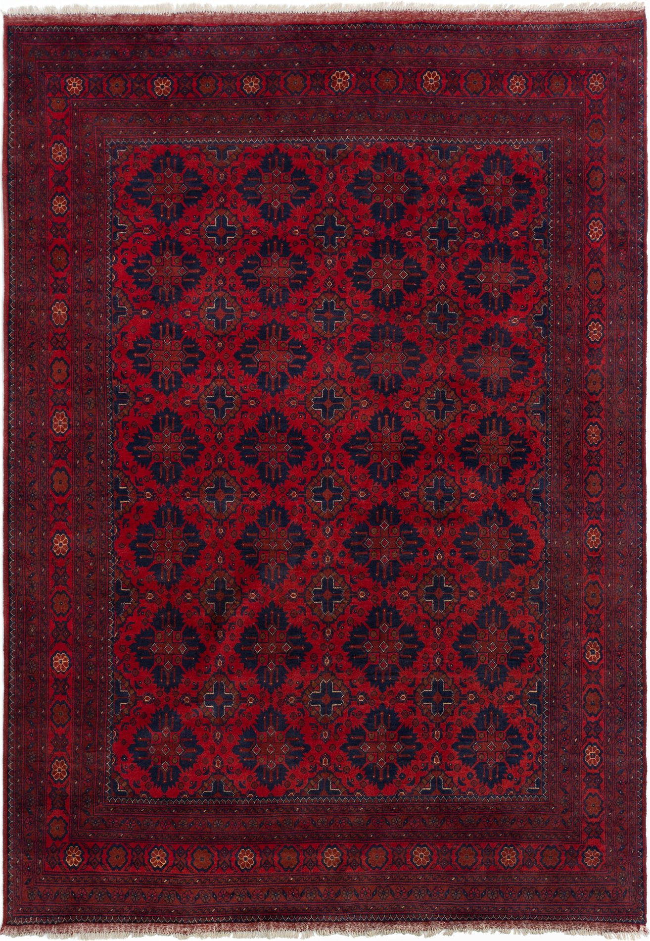 """Hand-knotted Finest Khal Mohammadi Dark Red Wool Rug 6'9"""" x 9'8"""" Size: 6'9"""" x 9'8"""""""