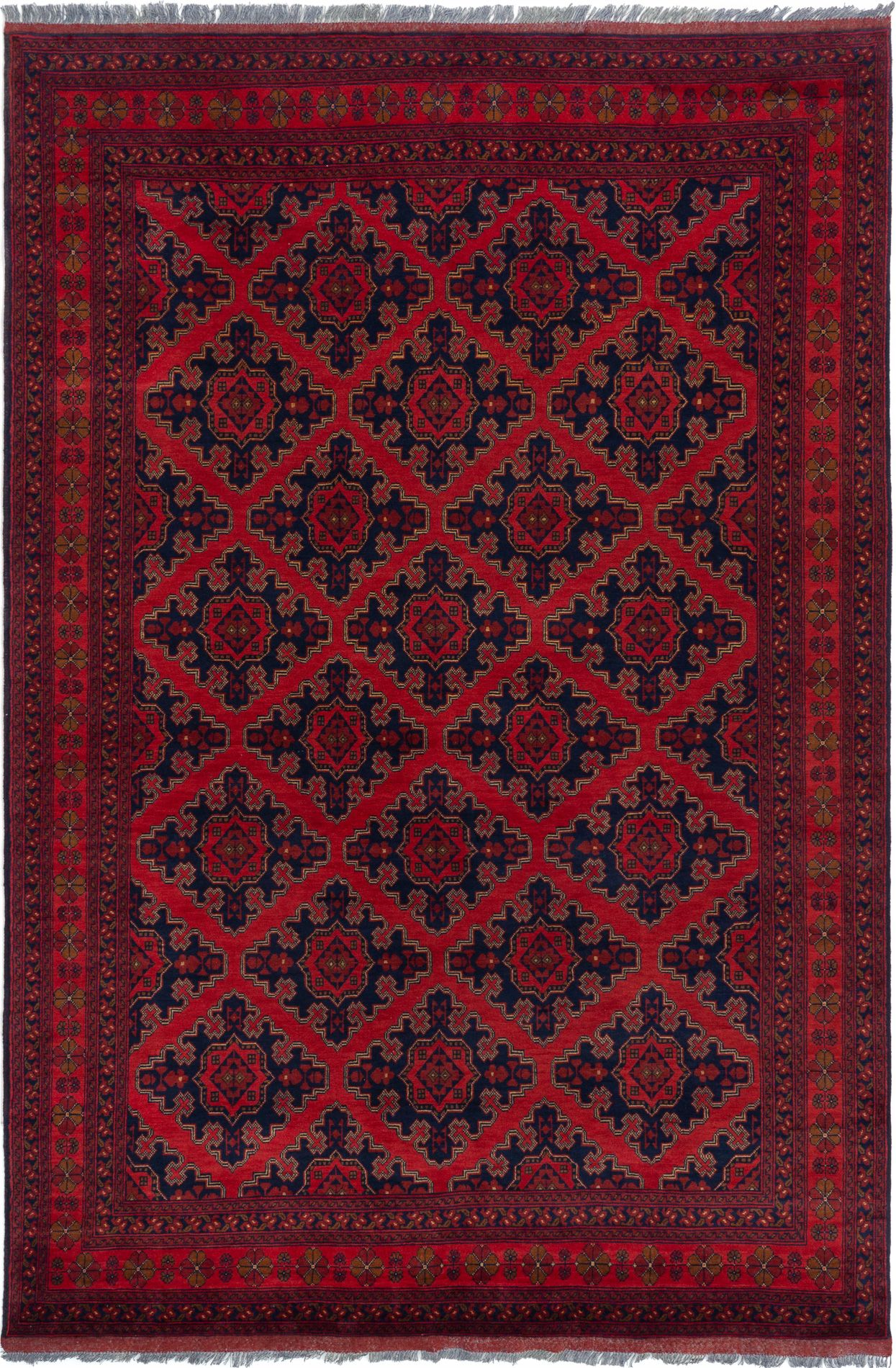 """Hand-knotted Finest Khal Mohammadi Red Wool Rug 6'9"""" x 10'1""""  Size: 6'9"""" x 10'1"""""""
