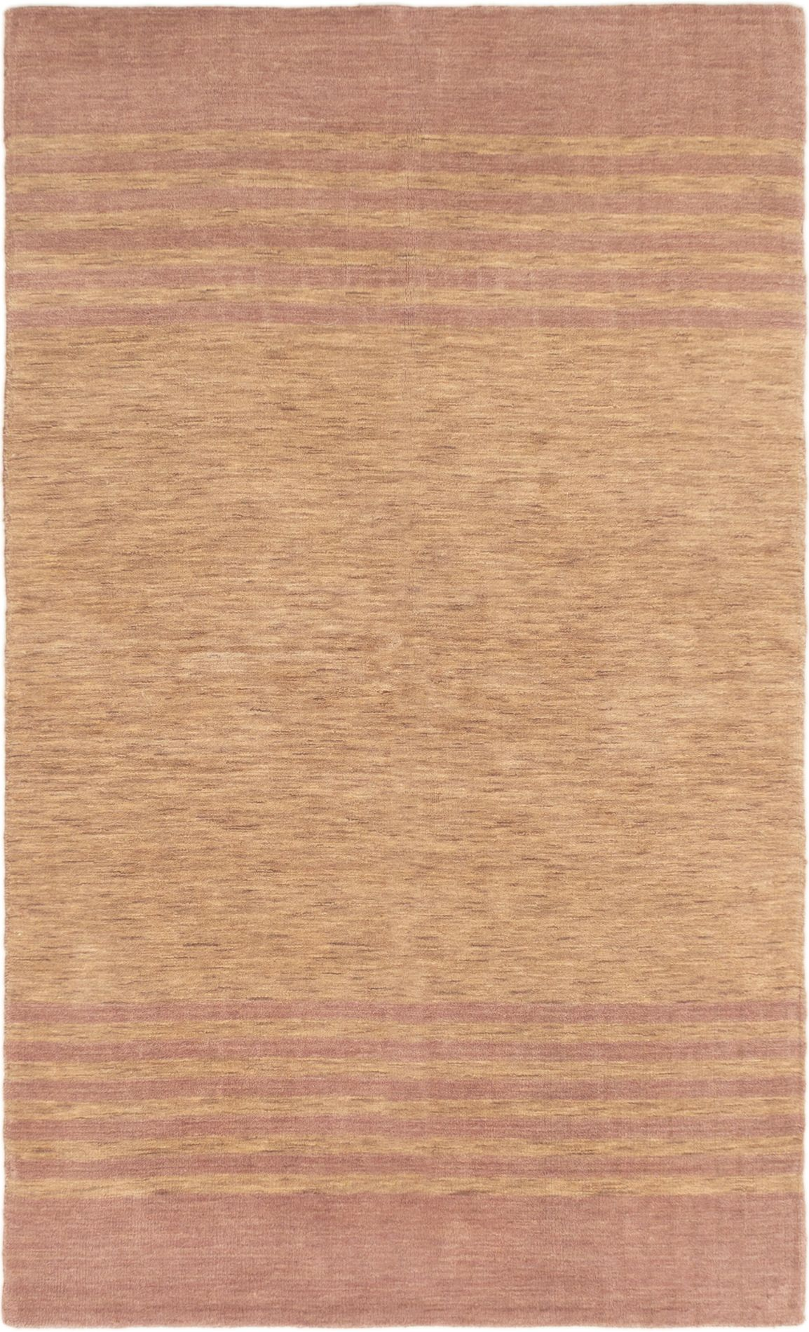 "Hand-knotted Luribaft Gabbeh Riz Tan Wool Rug 5'0"" x 8'0""  Size: 5'0"" x 8'0"""