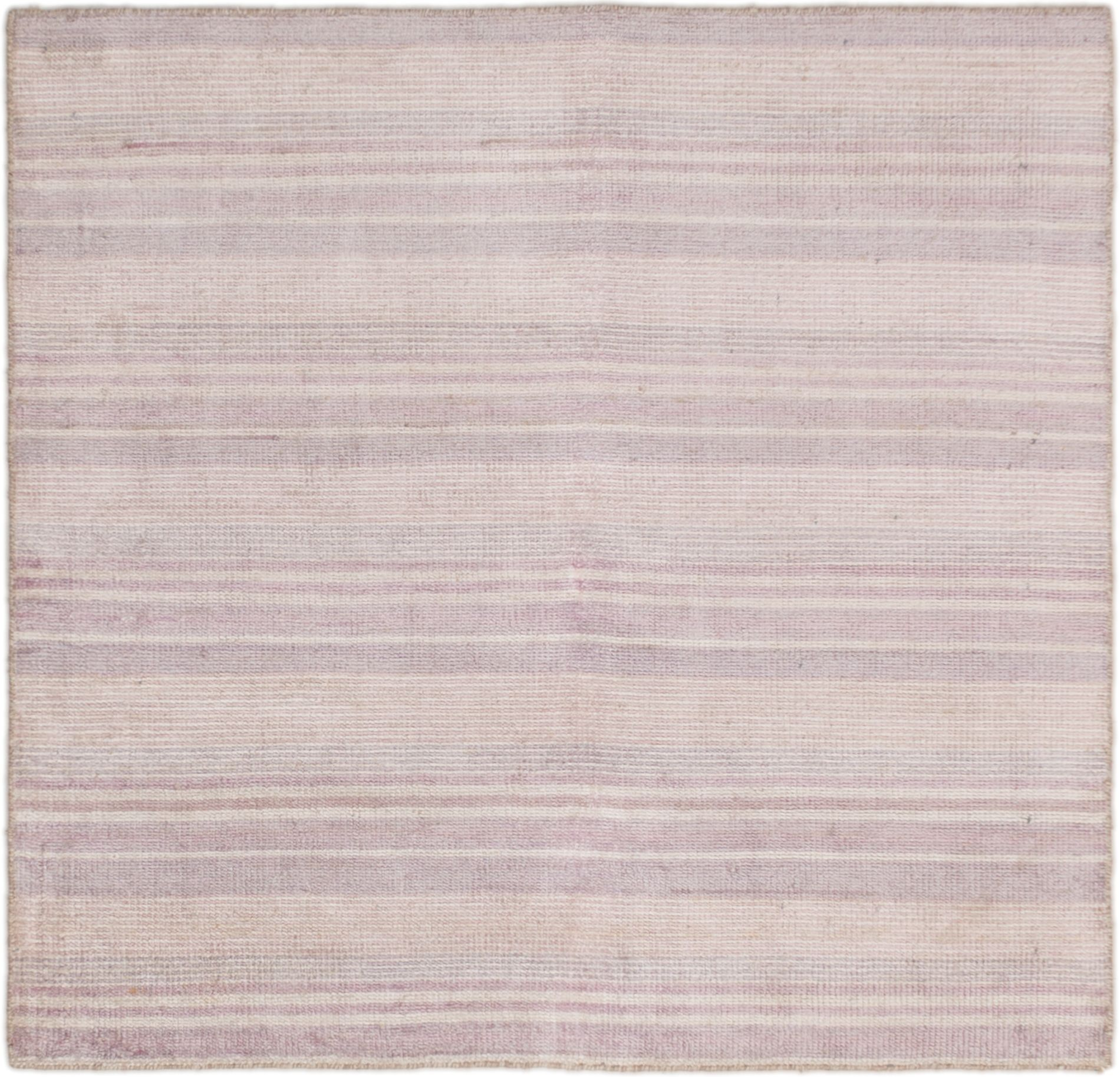 "Hand-knotted Sari Silk Purple Silk Rug 5'3"" x 5'1"" Size: 5'3"" x 5'1"""