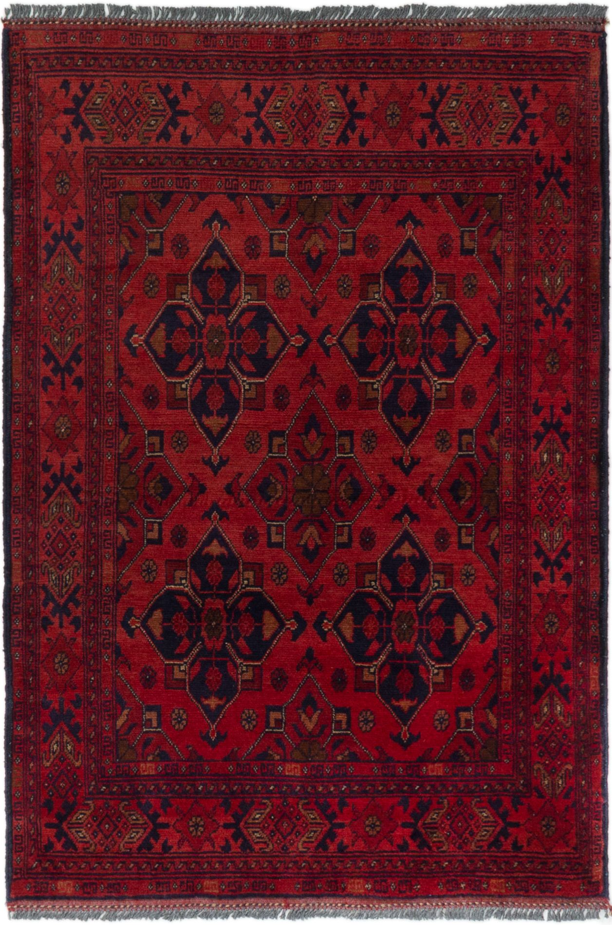 "Hand-knotted Finest Khal Mohammadi Red Wool Rug 3'3"" x 4'9"" (28) Size: 3'3"" x 4'9"""